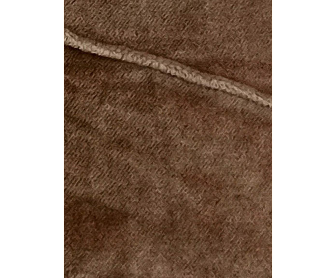 Samt-Kissen Pintuck in Braun mit erhabenem Strukturmuster, mit Inlett, Bezug: 55% Rayon, 45% Baumwolle, Webart: Samt, Rosa, 45 x 45 cm