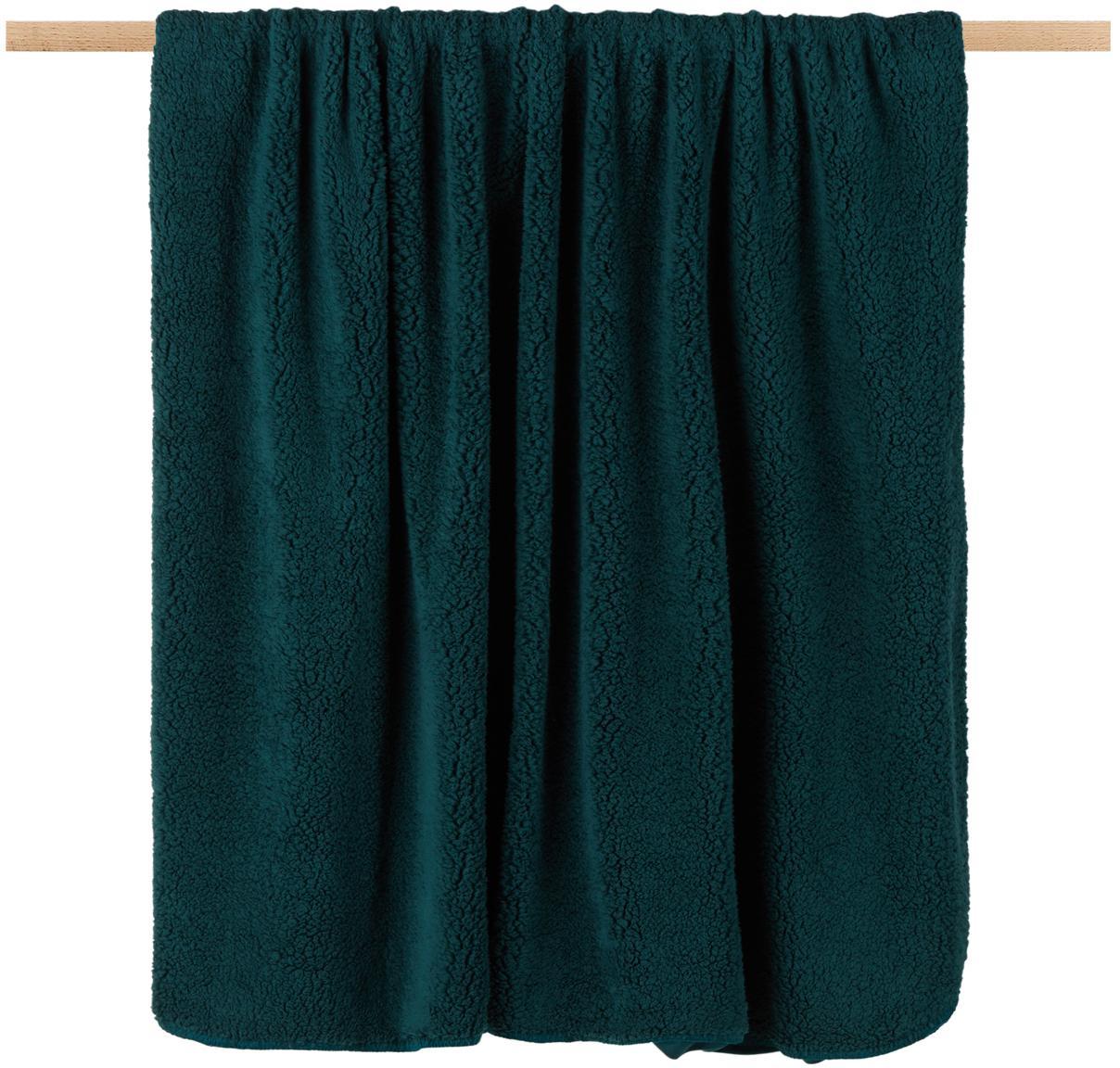 Kunstfell-Plaid Lammy, Vorderseite: Polyester (Kunstfell), Rückseite: Polyester, Tannengrün, 150 x 200 cm