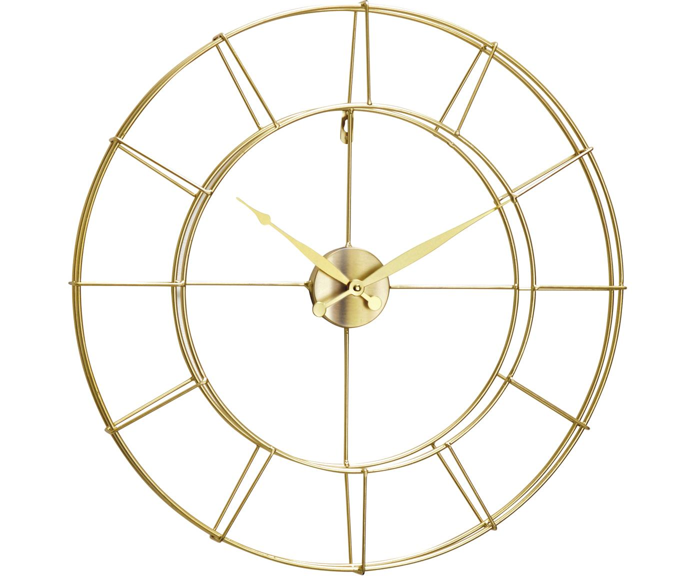Wanduhr Alisha, Metall, beschichtet, Goldfarben, Ø 57 cm