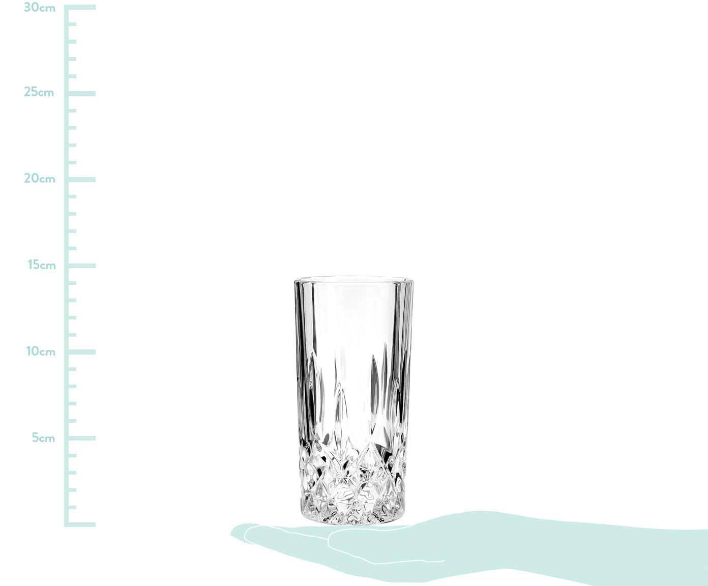 Vasos highball de cristal George, 4uds., Vidrio, Transparente, Ø 8 cm