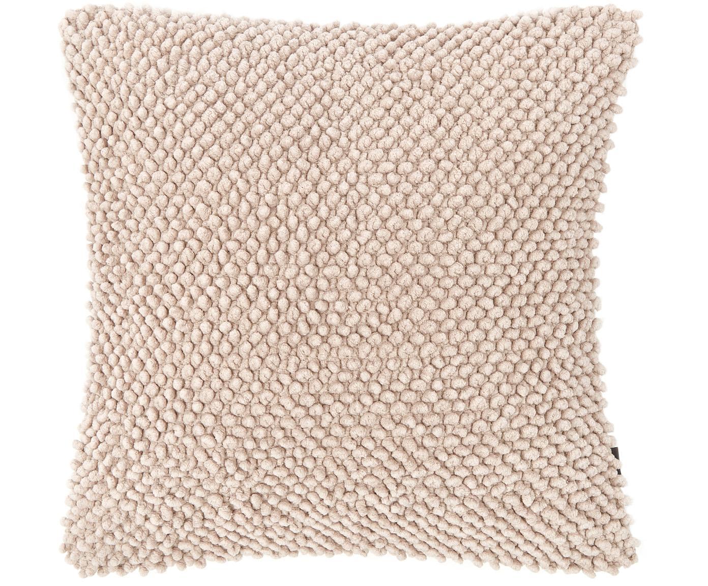 Kissen Indi mit weicher Strukturoberfläche, mit Inlett, Altrosa, 45 x 45 cm