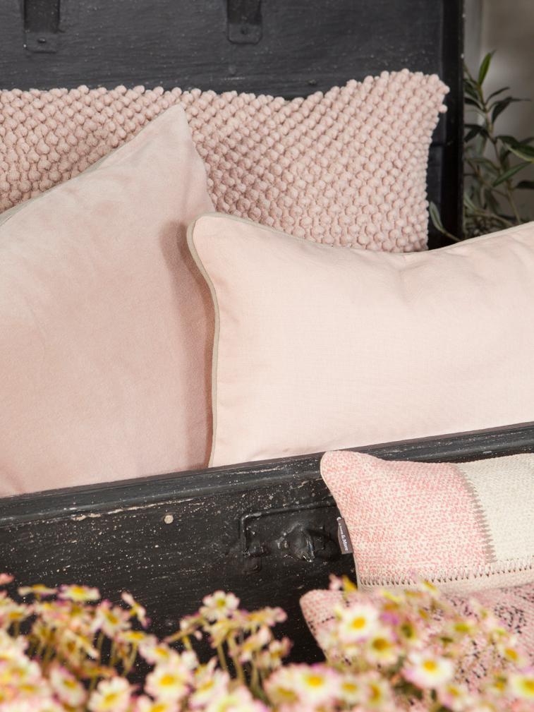 Cojín Indi, con relleno, Funda: 100%algodón, Rosa, An 45 x L 45 cm