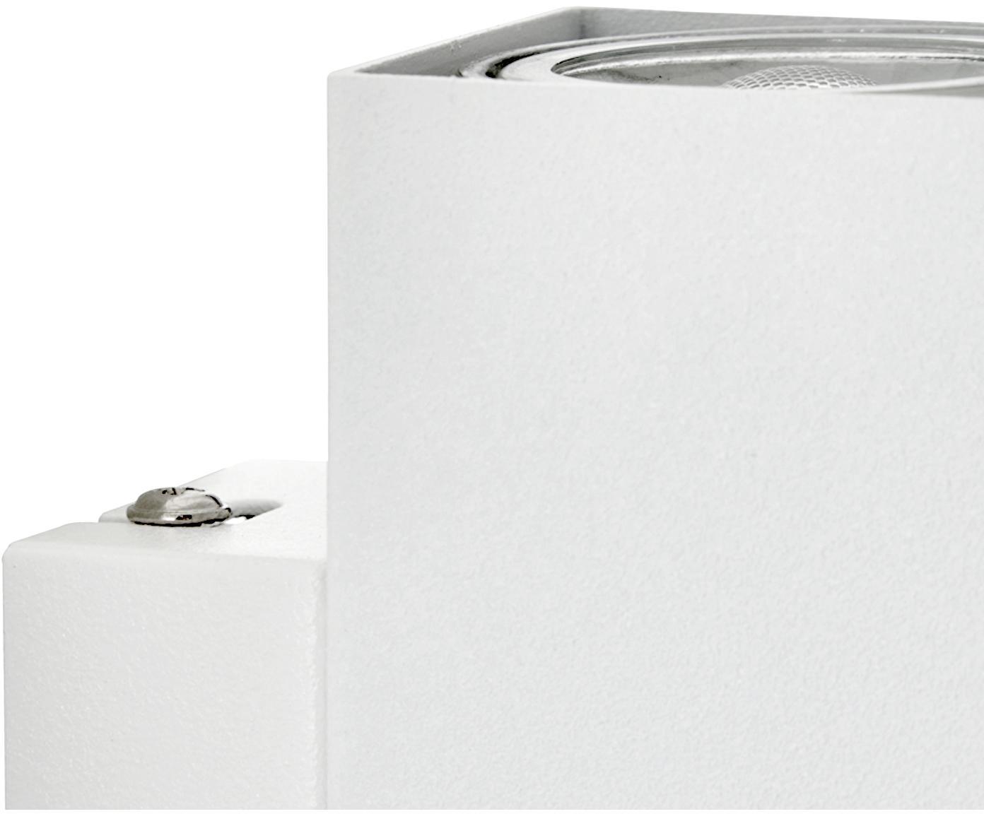 Applique a LED Peter, Metallo verniciato, Bianco, Larg. 5 x Alt. 8 cm