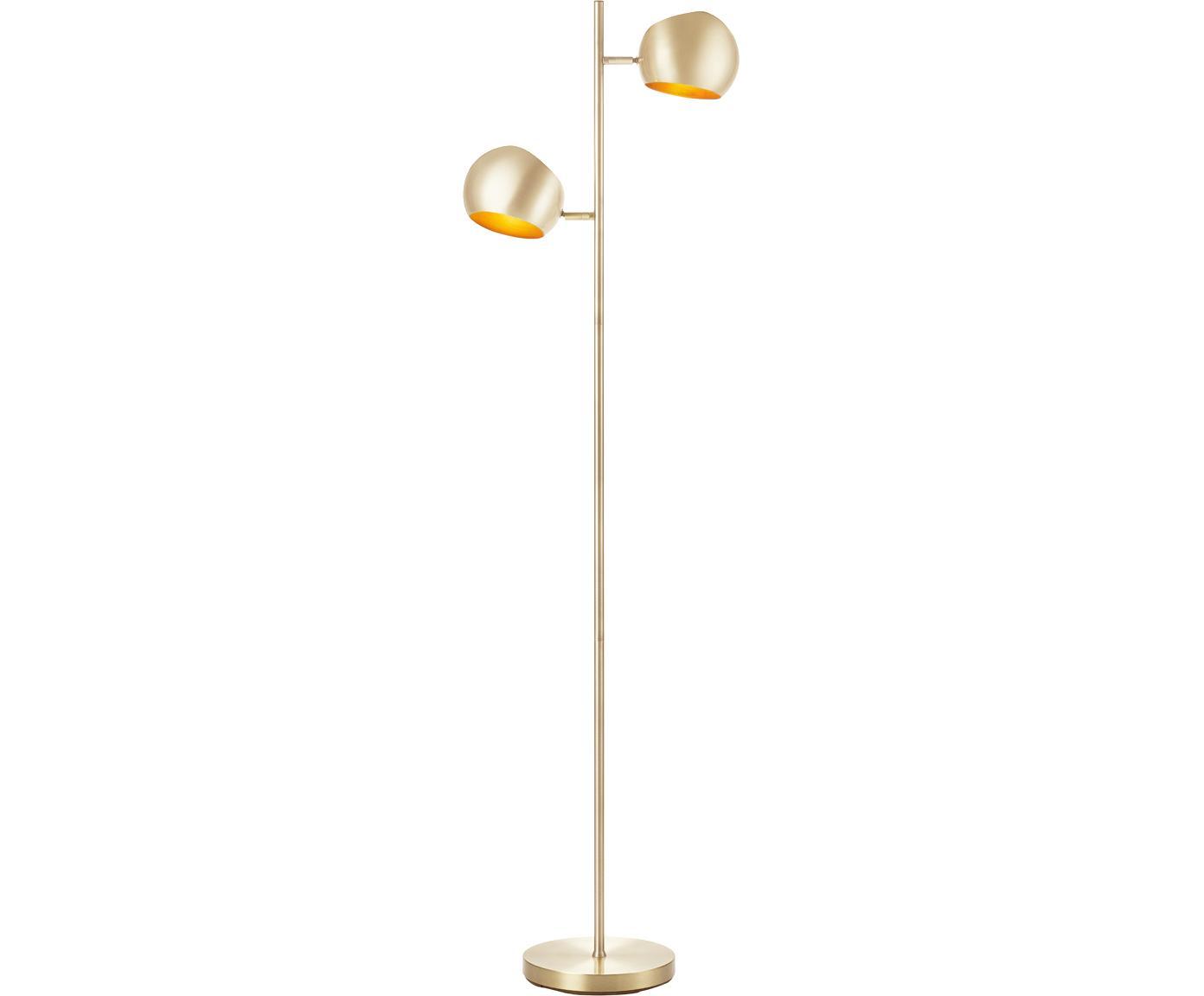 Lampa podłogowa Edgar, Mosiężny, antyczne wykończenie, S 40 x W 145 cm