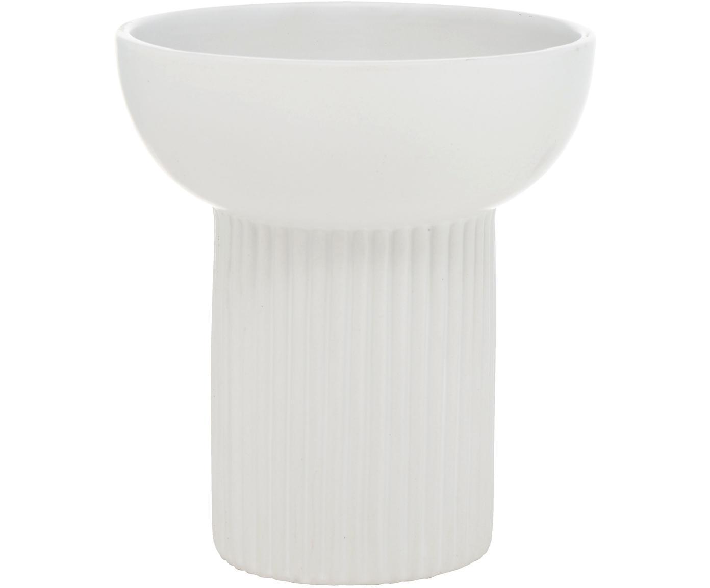 Kleine Vase Giulio aus Dolomit, Dolomit, Weiß, Ø 17 x H 19 cm