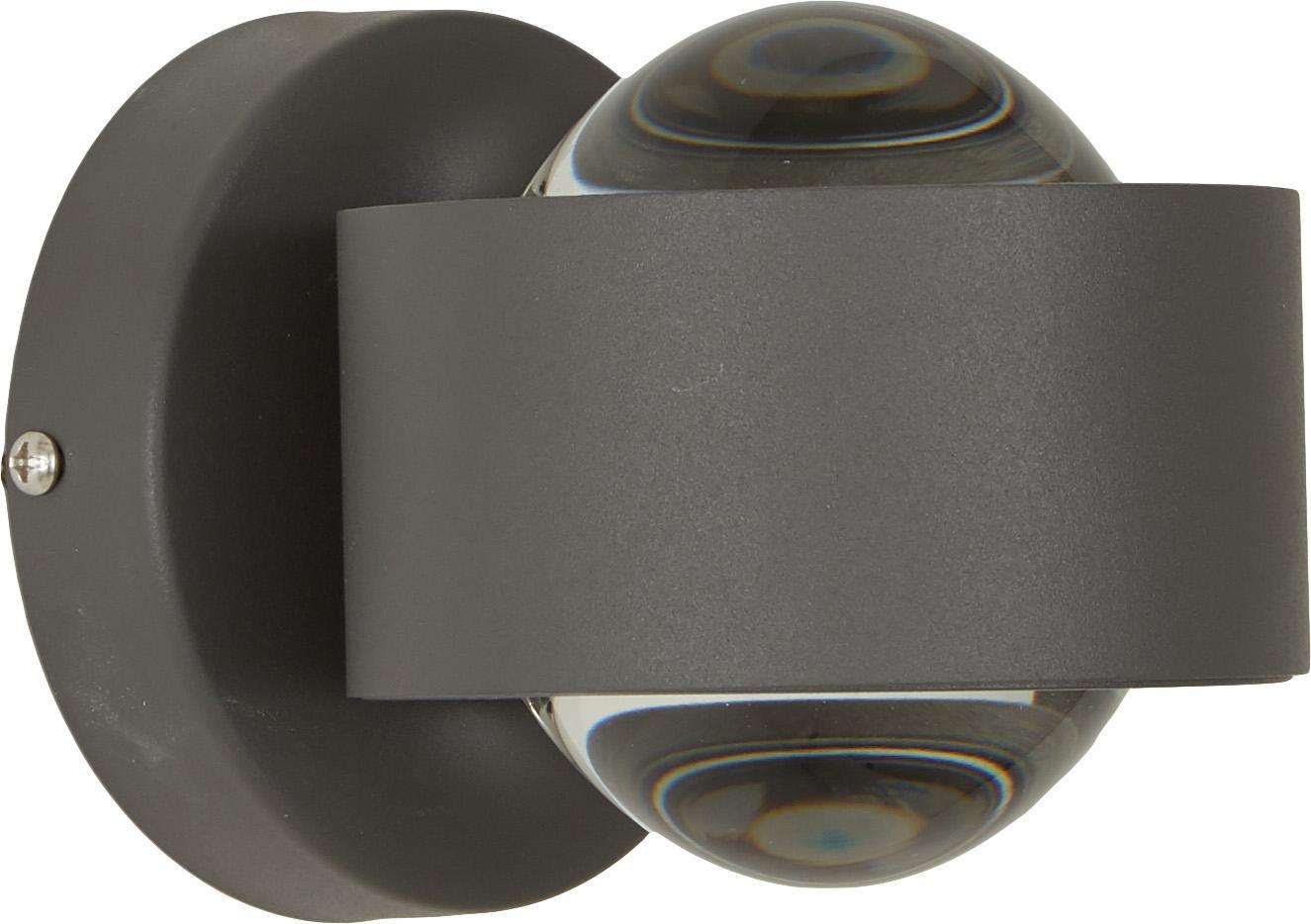 XS-LED Wandleuchte Ono, Schwarz, 9 x 8 cm
