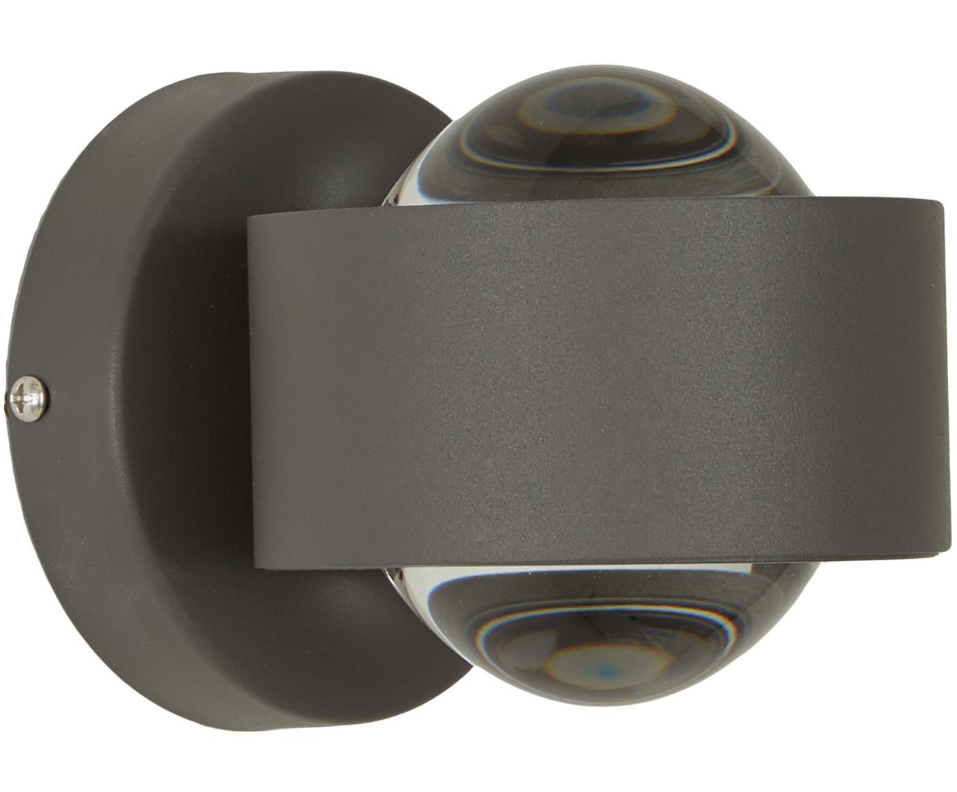 XS-LED wandlamp Ono, Zwart, 9 x 8 cm