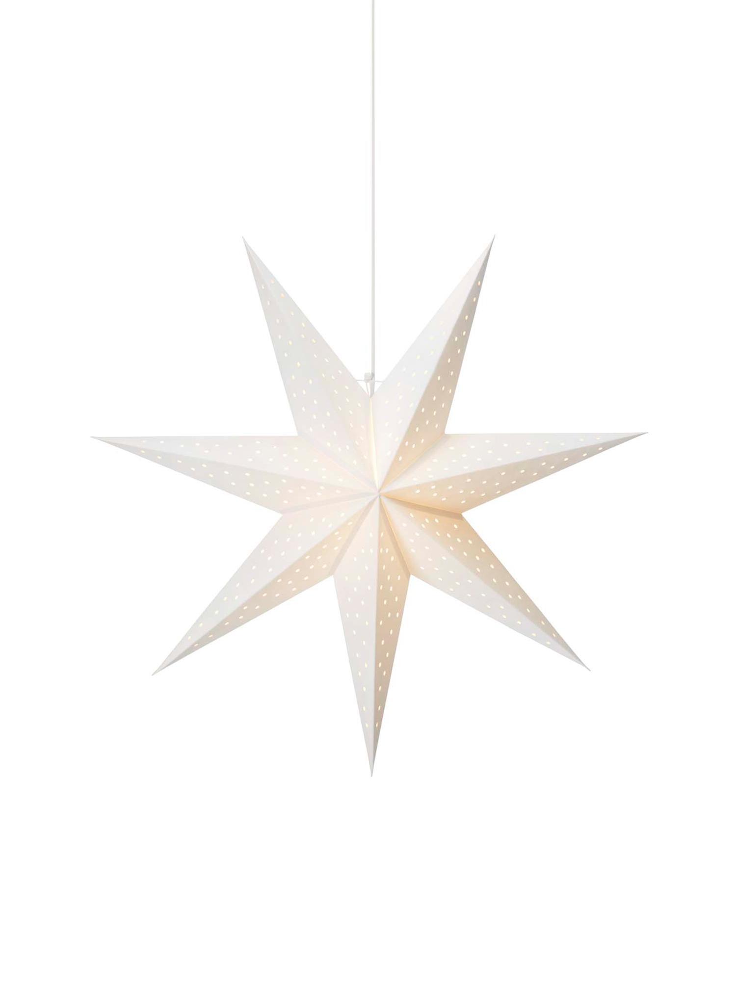 Weihnachtsstern Clara, Weiß, Ø 75 cm