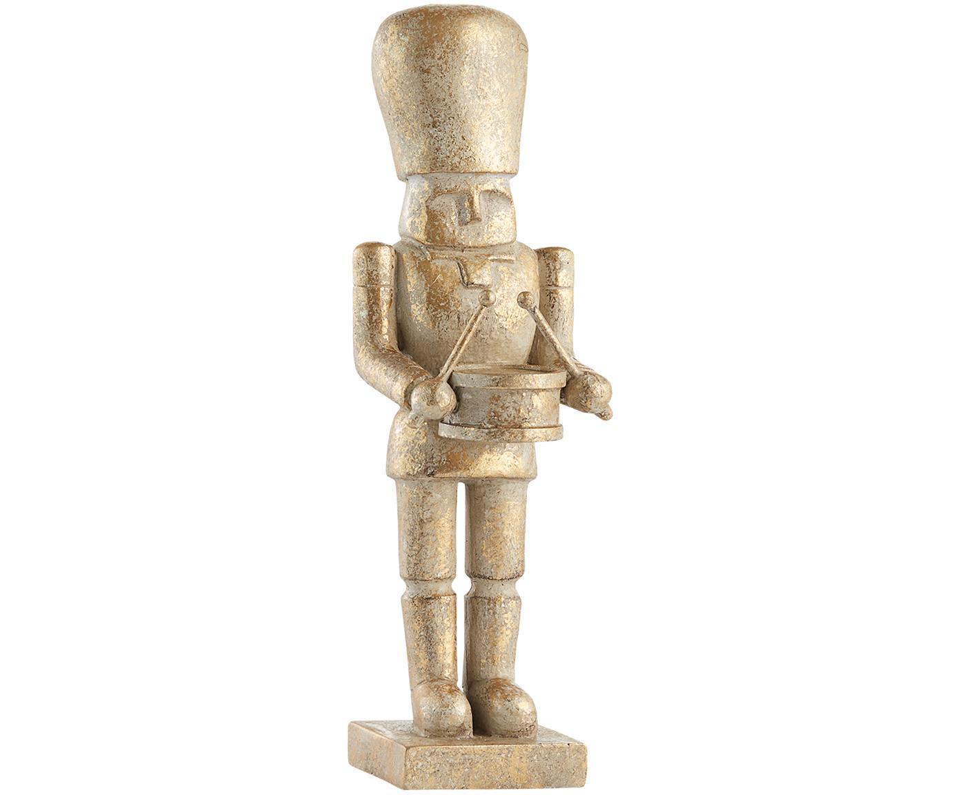 Dekoracja Drummer, Poliresing, Odcienie złotego, Ø 7 x W 23 cm
