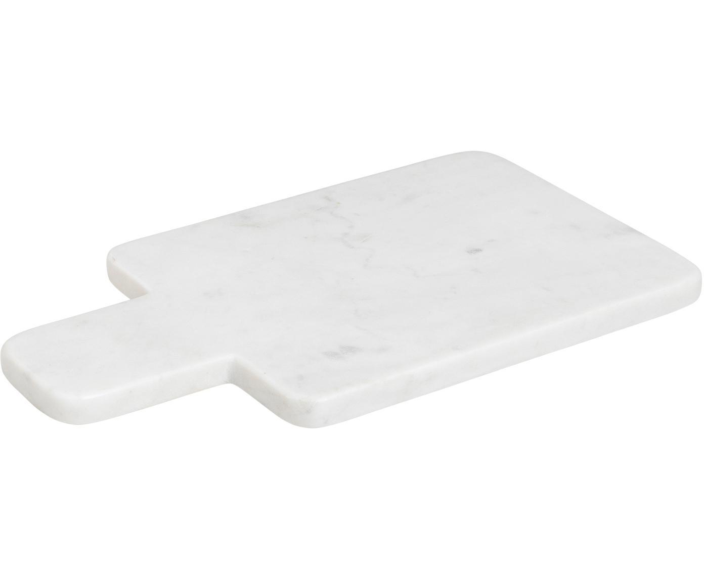 Marmeren snijplank Adam, Marmer, Wit, 30 x 17 cm