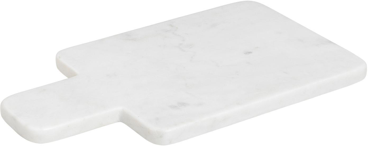 Deska do krojenia z marmuru Adam, Marmur, Biały, S 30 x W 17 cm