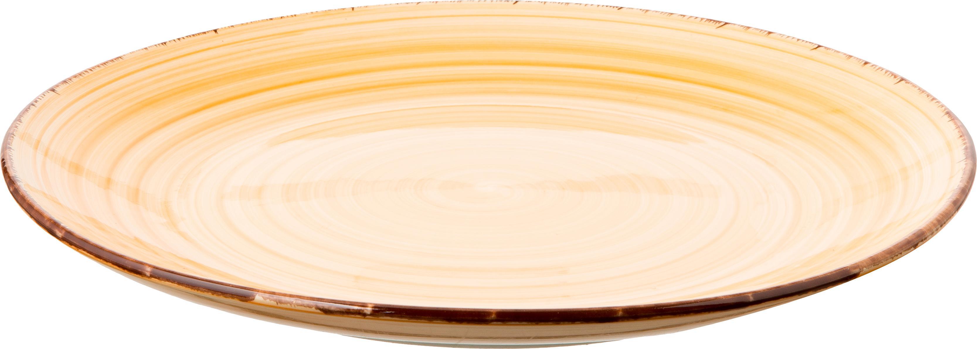 Handbemaltes Geschirr-Set Baita in Pastelltönen, 6 Personen (18-tlg.), Steingut (Dolomitstein), handbemalt, Pastelltöne, Sondergrößen