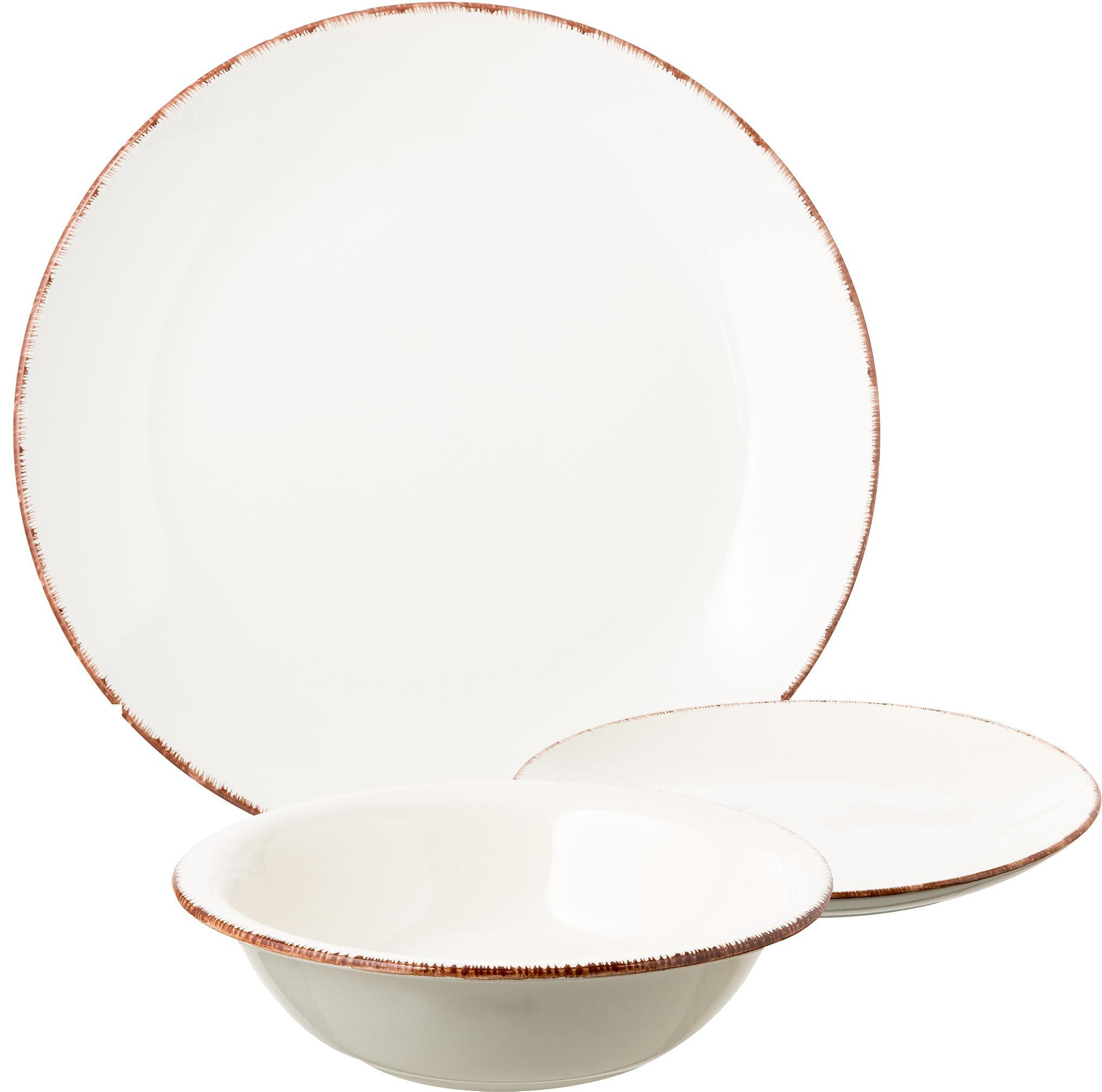 Service de table pastel Baita, 6personnes (18élém.), Tons pastel