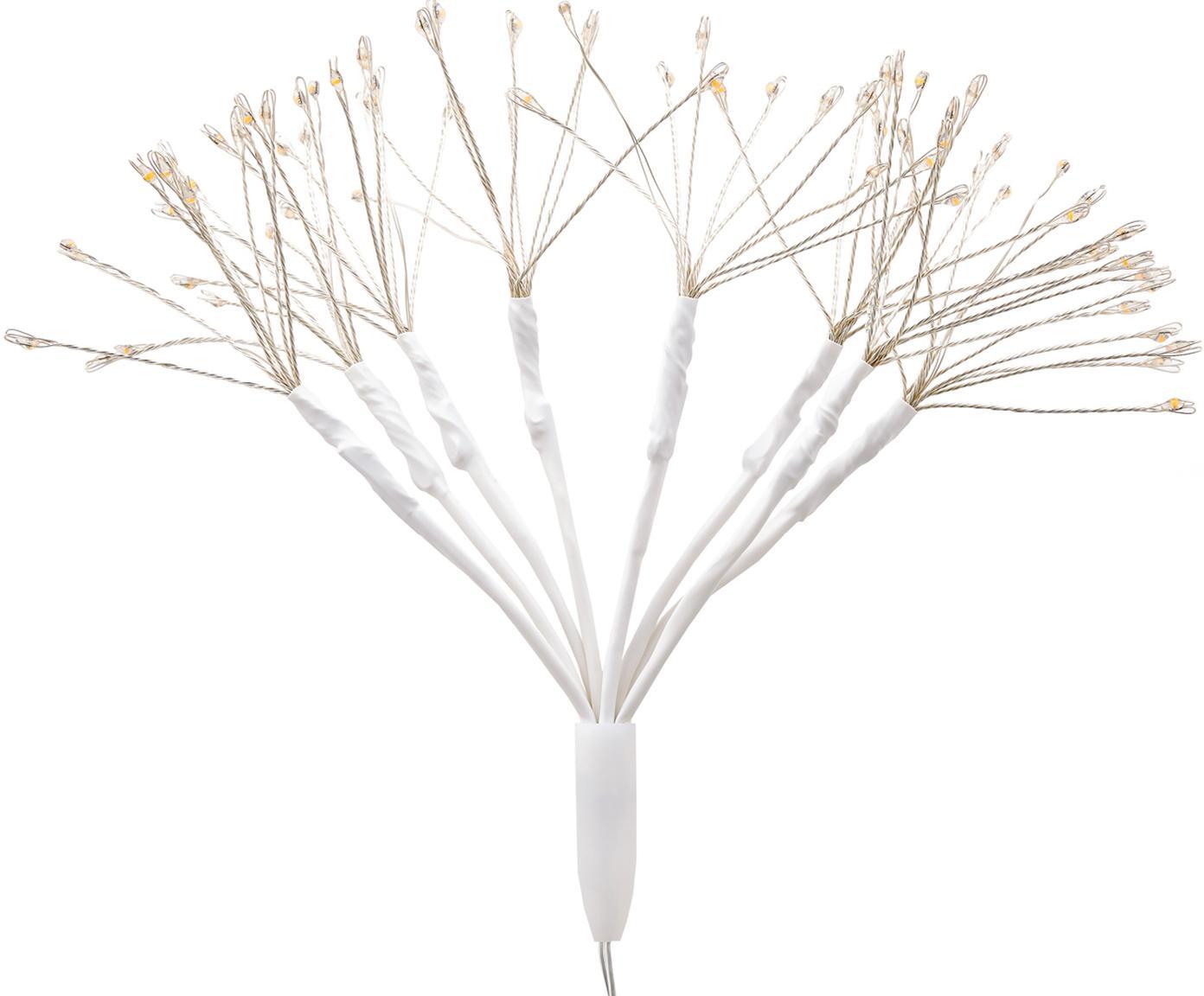 Decoración luminosa LED Dendelion, Metal, plástico, Blanco, plateado, Ø 20 x Al 30 cm