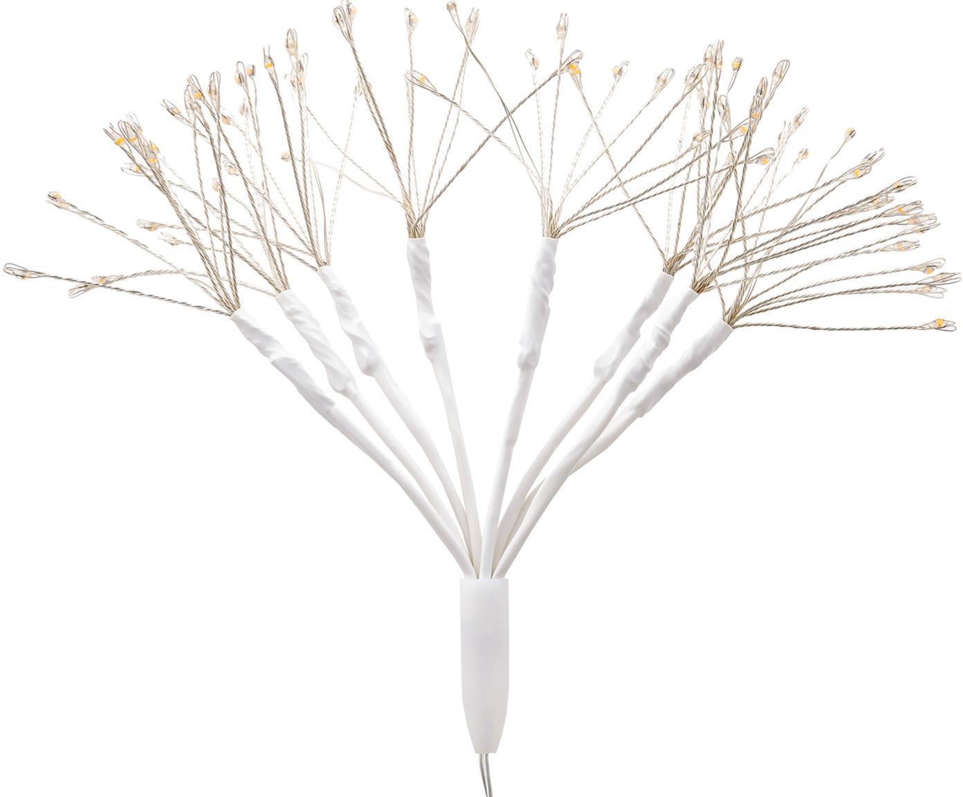 Dekoracja świetlna LED Dendelion, Metal, tworzywo sztuczne, Biały, odcienie srebrnego, Ø 20 x W 30 cm