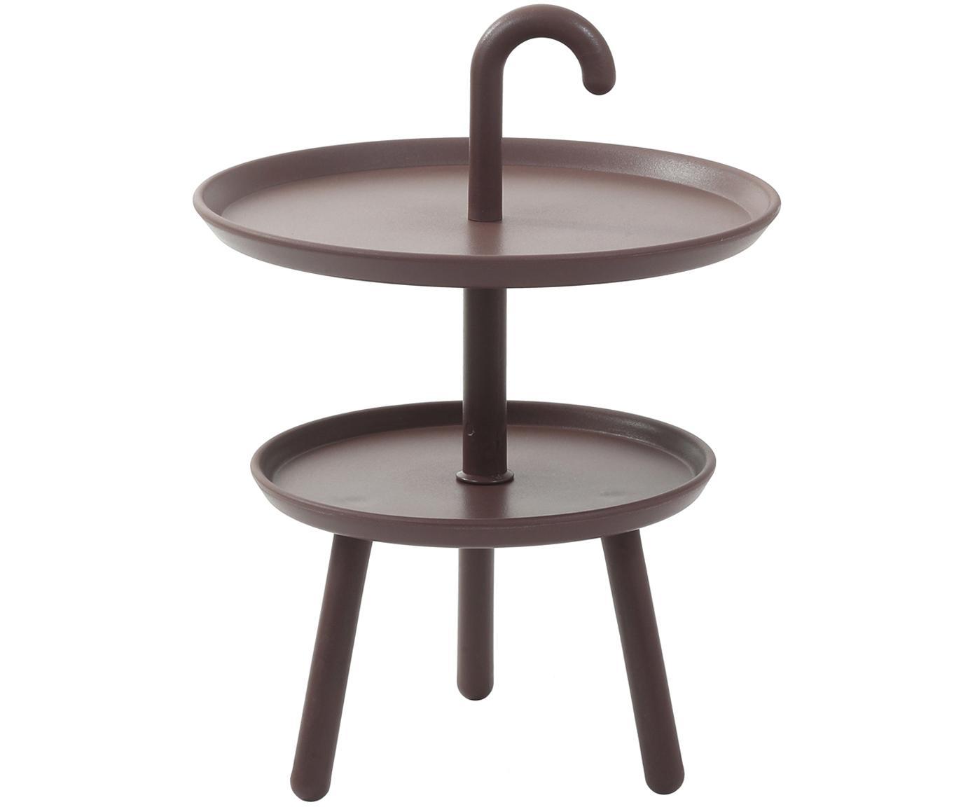 Tavolino rotondo in plastica Rodi, Polipropilene, Marrone, Ø 42 x Alt. 56 cm