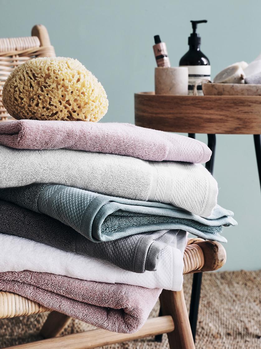 Set asciugamani Premium 3 pz, Grigio chiaro, Diverse dimensioni
