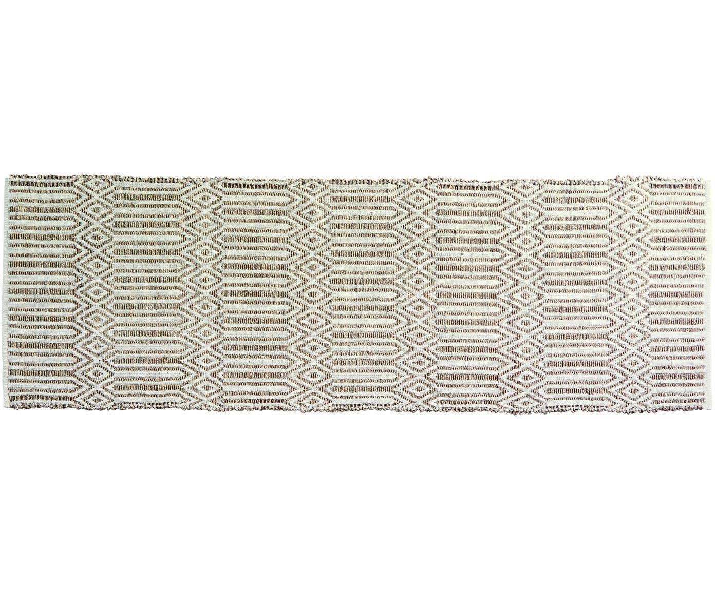 Alfombra Kalun, Seagrass, algodón, Blanco crudo, beige, An 70 x L 200 cm