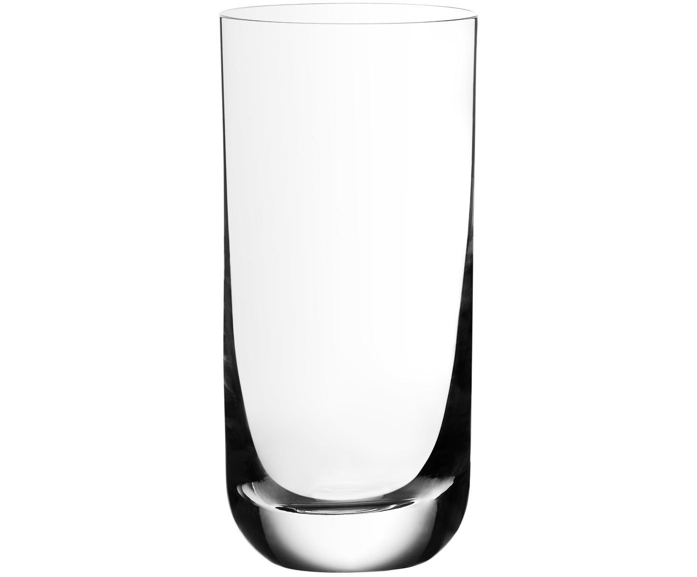 Kristallen longdrinkglazen Harmony, 6 stuks, Edele glans - het kristalglas breekt bijzonder sterk het licht af, Transparant, 360 ml