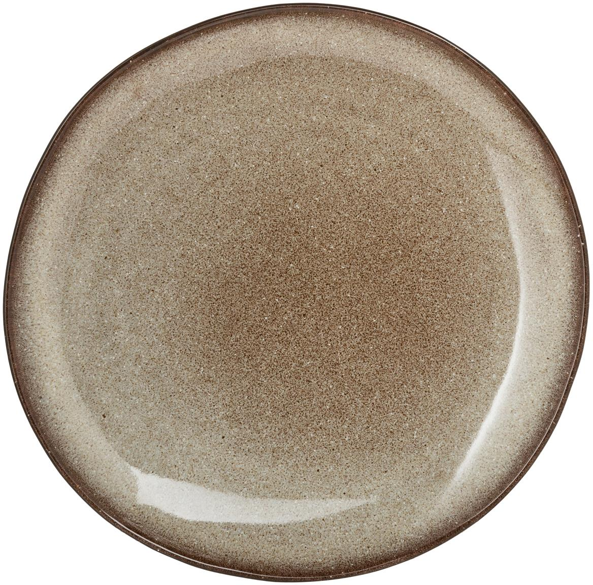 Ręcznie wykonany talerz obiadowy  Sandrine, Ceramika, Odcienie beżowego, Ø 29 x W 3 cm
