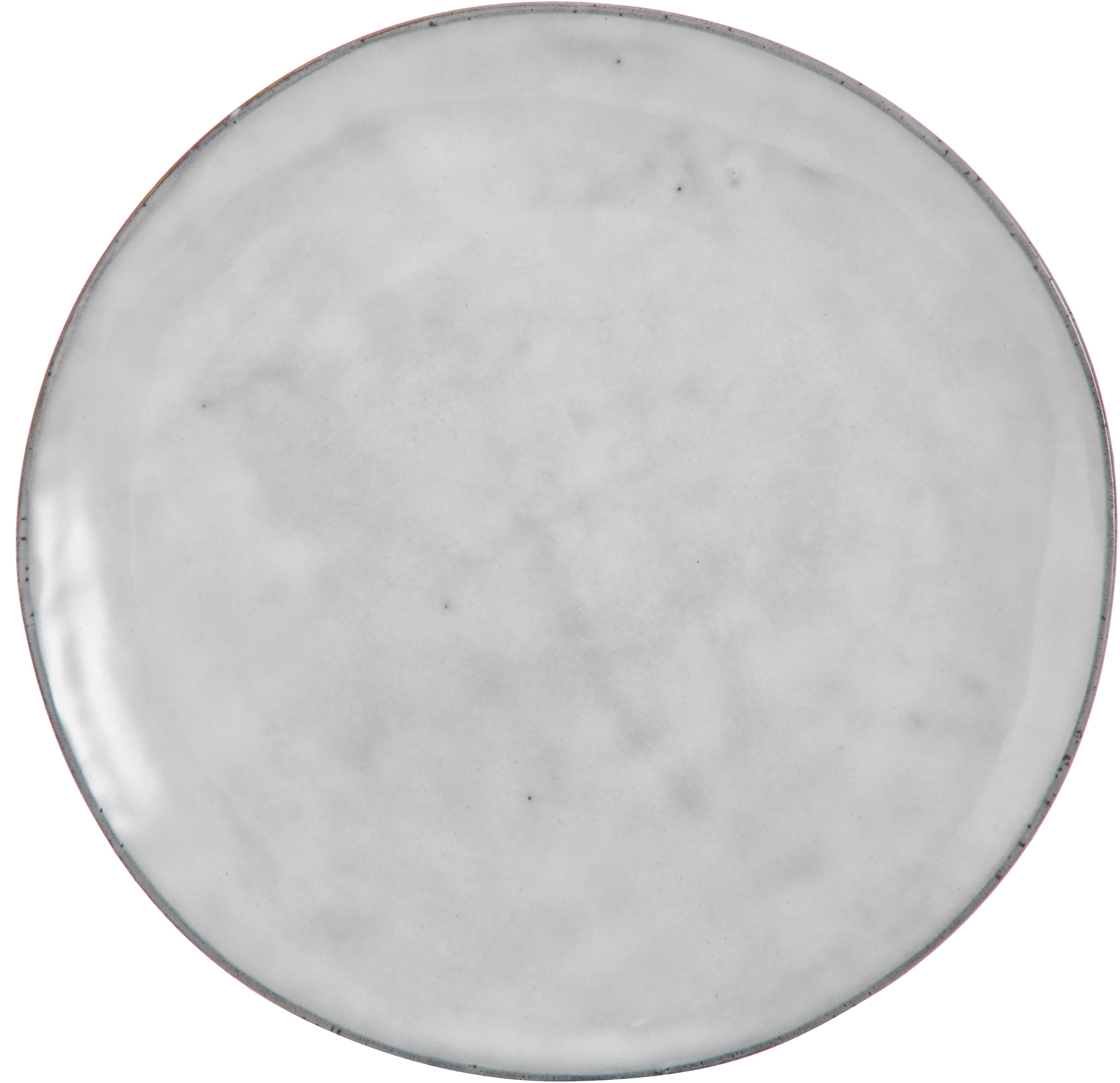 Handgemaakte dinerborden Nordic Sand, 4 stuks, Keramiek, Zandkleurig, Ø 26 x H 3 cm