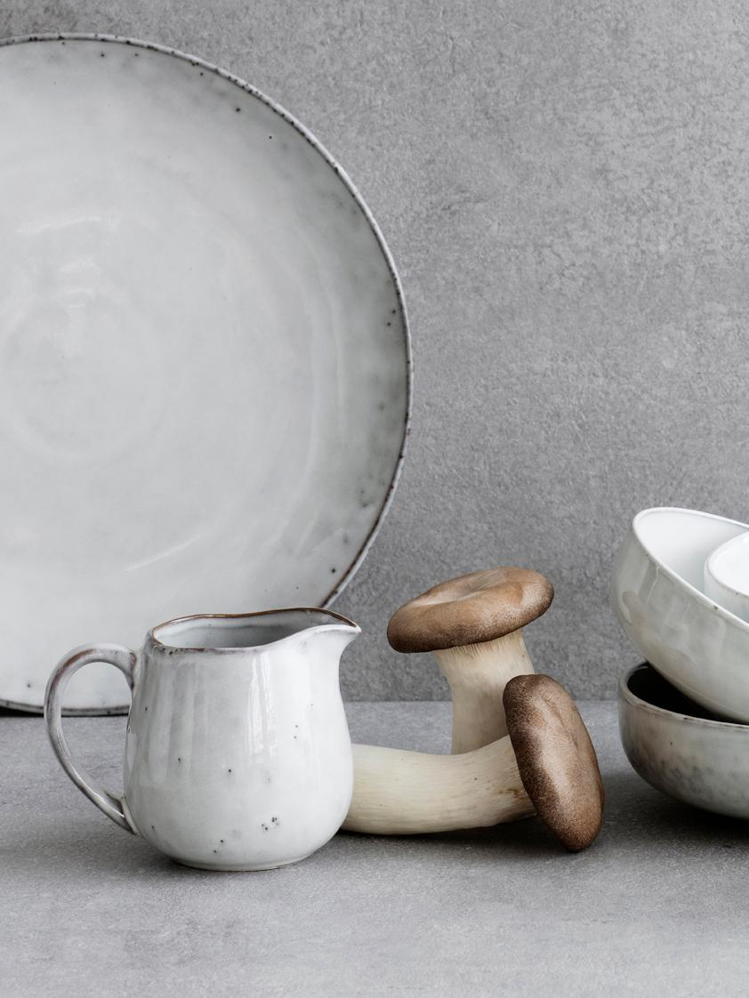 Piatto piano in terracotta fatto a mano Nordic Sand 4 pz, Terracotta, Sabbia, Ø 26 x Alt. 3 cm