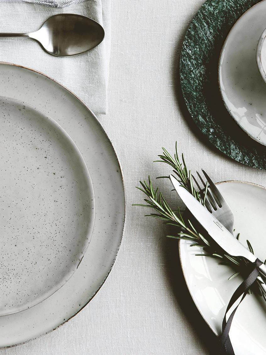 Assiettes plates faites à la main Nordic Sand, 4pièces, Sable