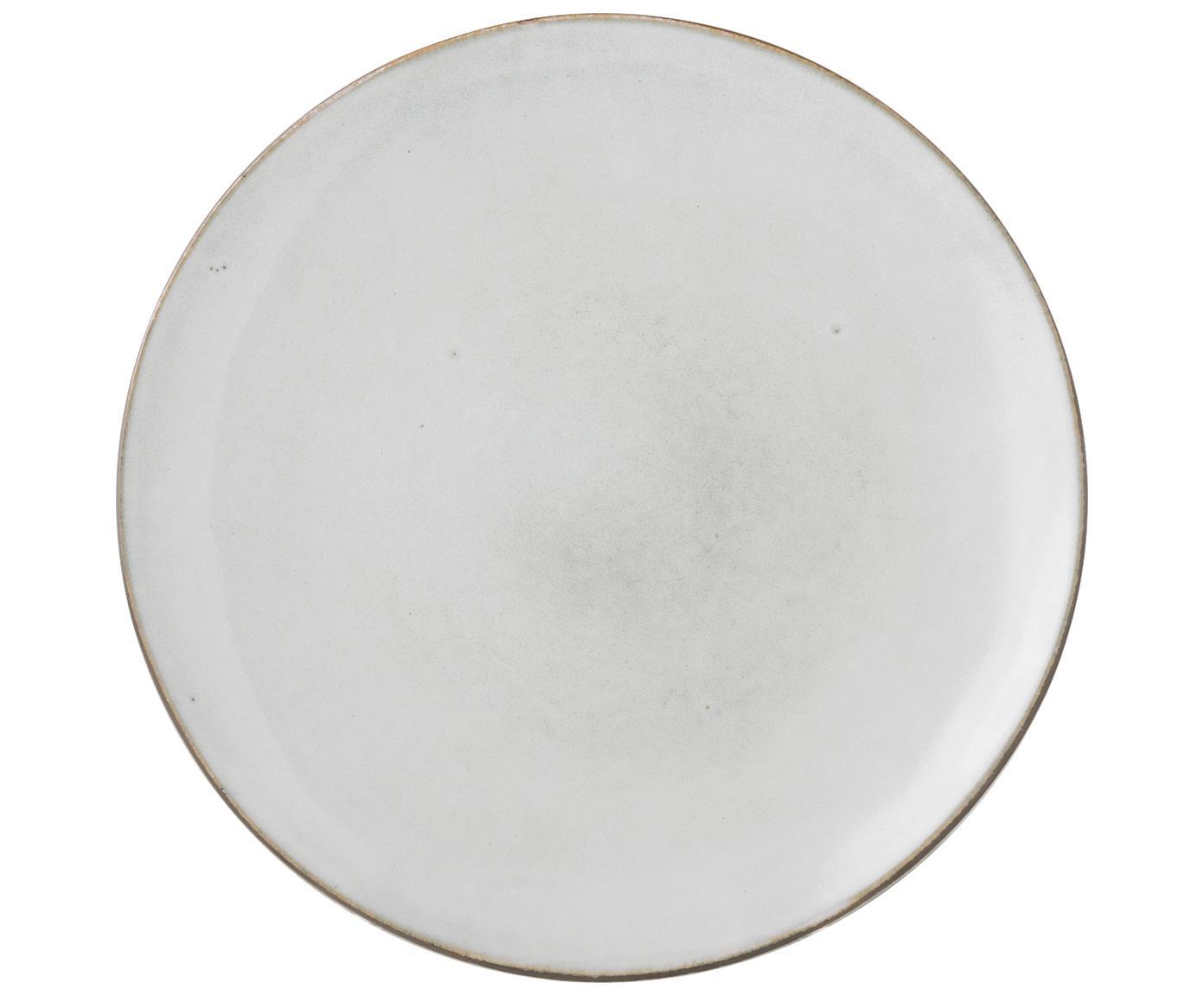 Ręcznie wykonany talerz duży Nordic Sand, 4 szt., Kamionka, Piaskowy, Ø 26 x W 3 cm