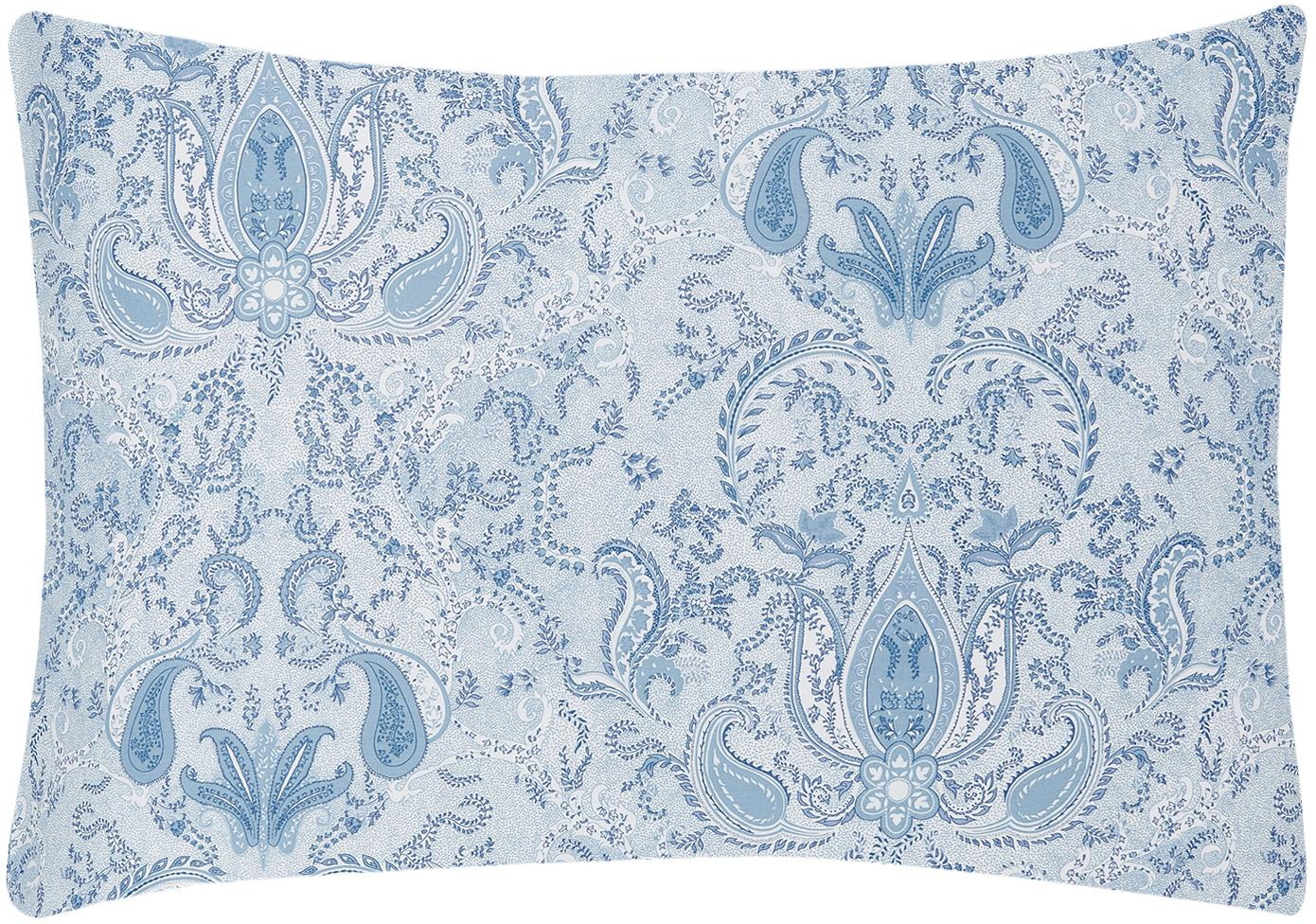 Funda de almohada de satén Grantham, Azul, An 50 x L 70 cm