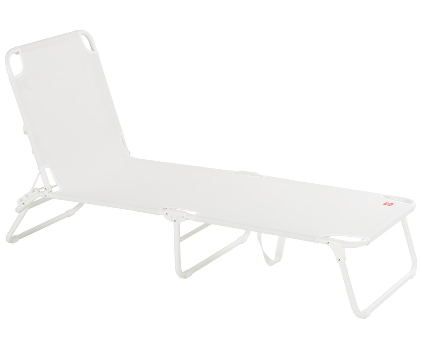 Ligstoel Fiam Amigo, Frame: aluminium, Bekleding: polyester, Wit, B 190  x D 58 cm
