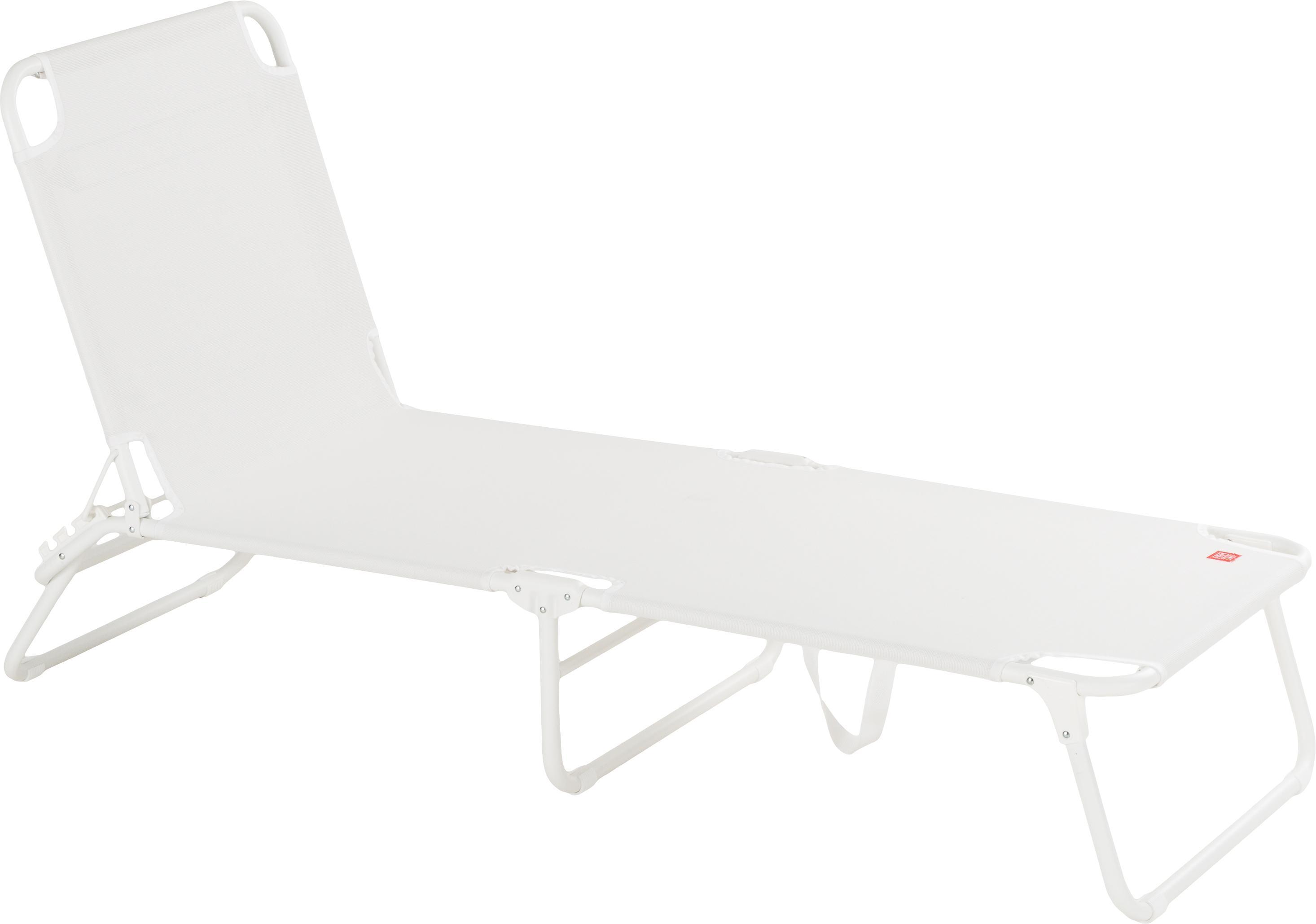 Gartenliege Fiam Amigo ohne Armlehne, Gestell: Aluminium, Bezug: Polyester, Weiss, 58 x 190 cm
