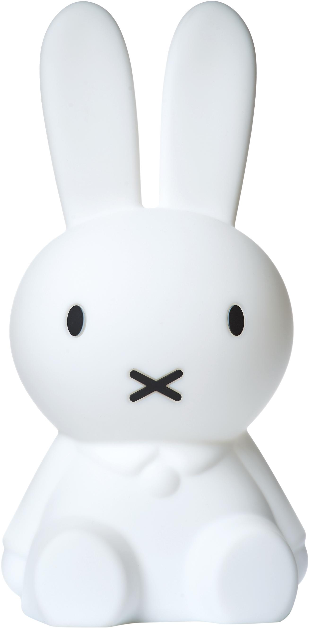 LED Tischleuchte Miffy First Light, Silikon, frei von BPA, Weiß, 15 x 30 cm