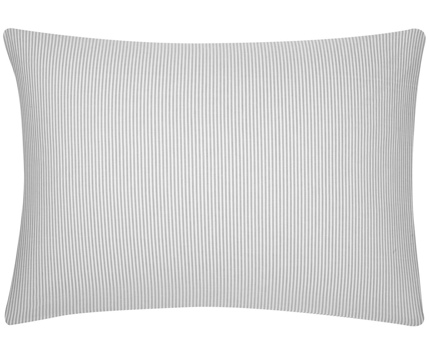 Funda de almohada de tejido renforcé Ellie, Blanco, gris, An 50 x L 70 cm