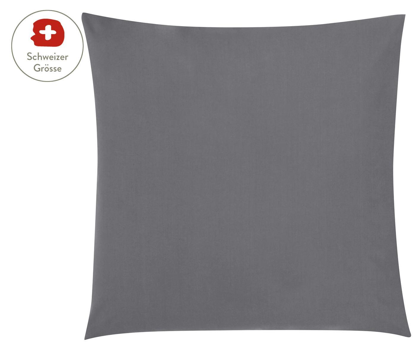 Baumwollperkal-Kissenbezug Elsie in Dunkelgrau, Webart: Perkal Fadendichte 200 TC, Dunkelgrau, 65 x 65 cm