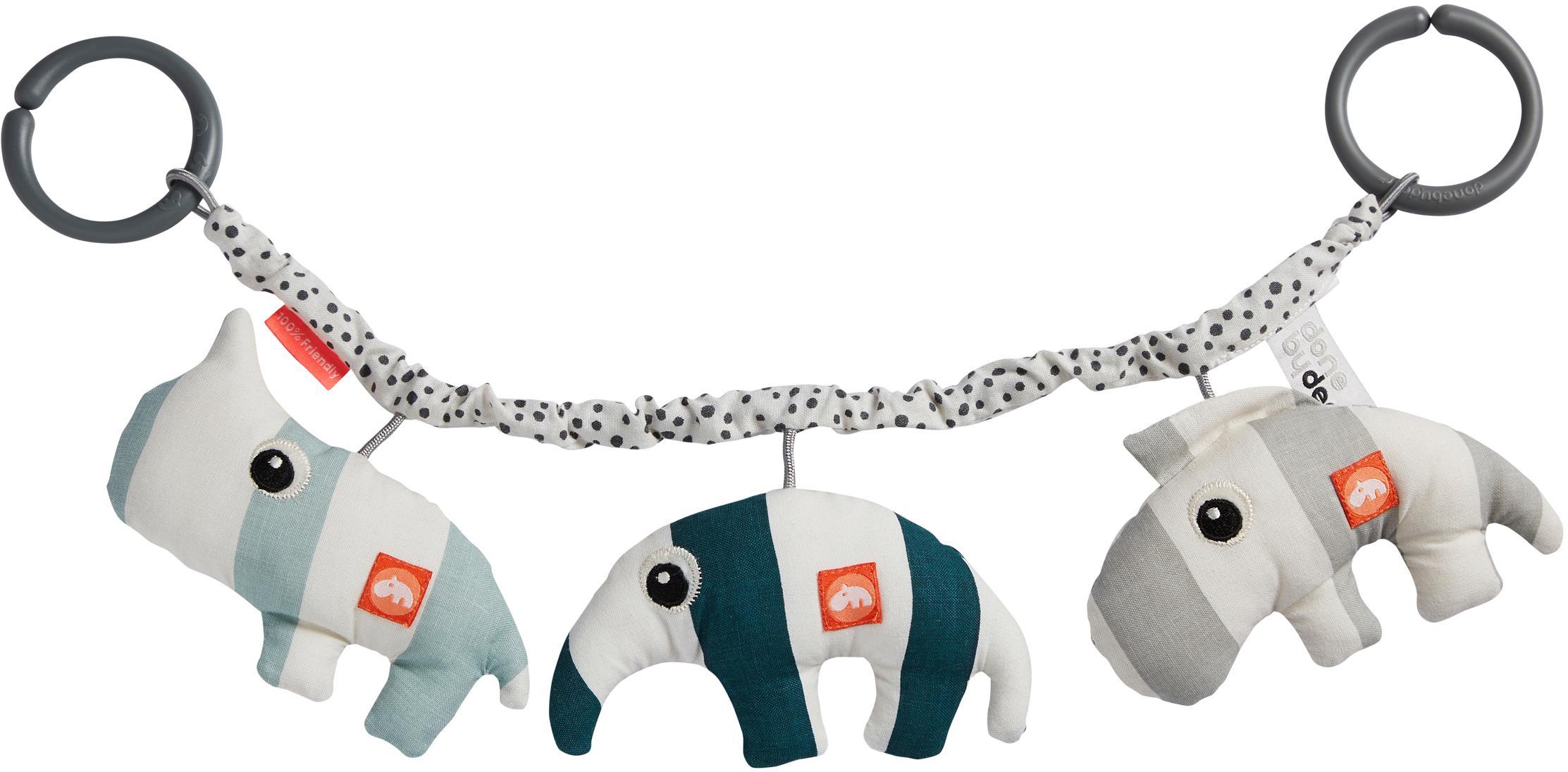 Kinderwagenspielzeug Deer Friends, Bezug: 100% Baumwolle, Mehrfarbig, 47 x 14 cm