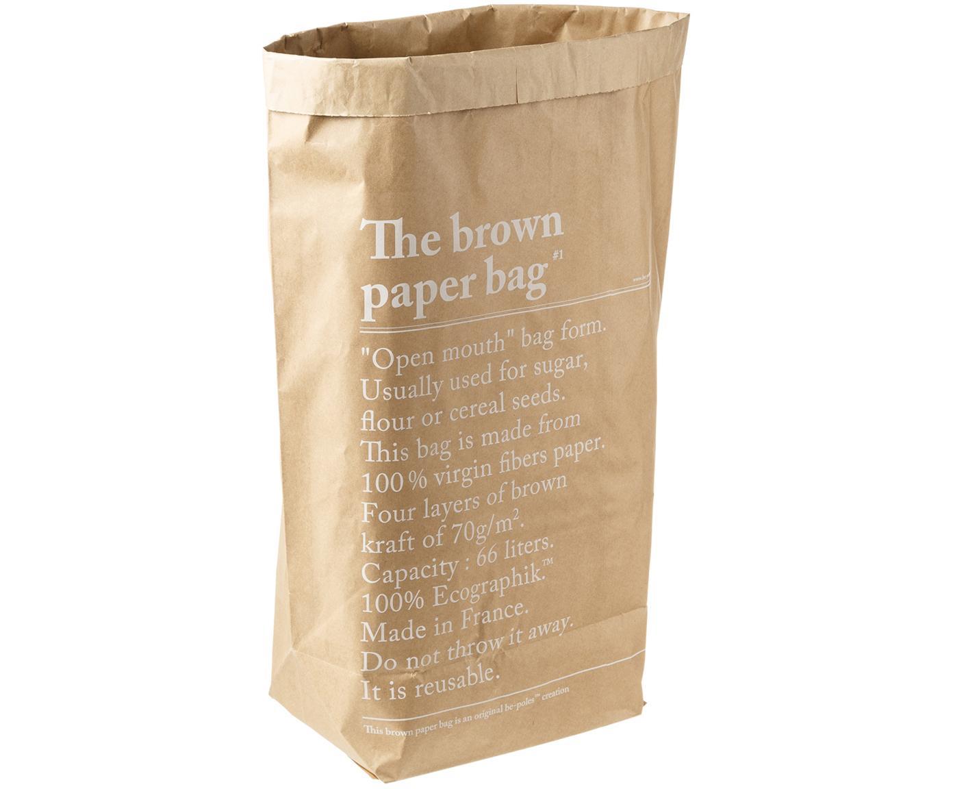 Bolsas de almacenaje Le sac en kraft brun, 2uds., Papel de fibra virgen, Marrón, An 50 x Al 69 cm