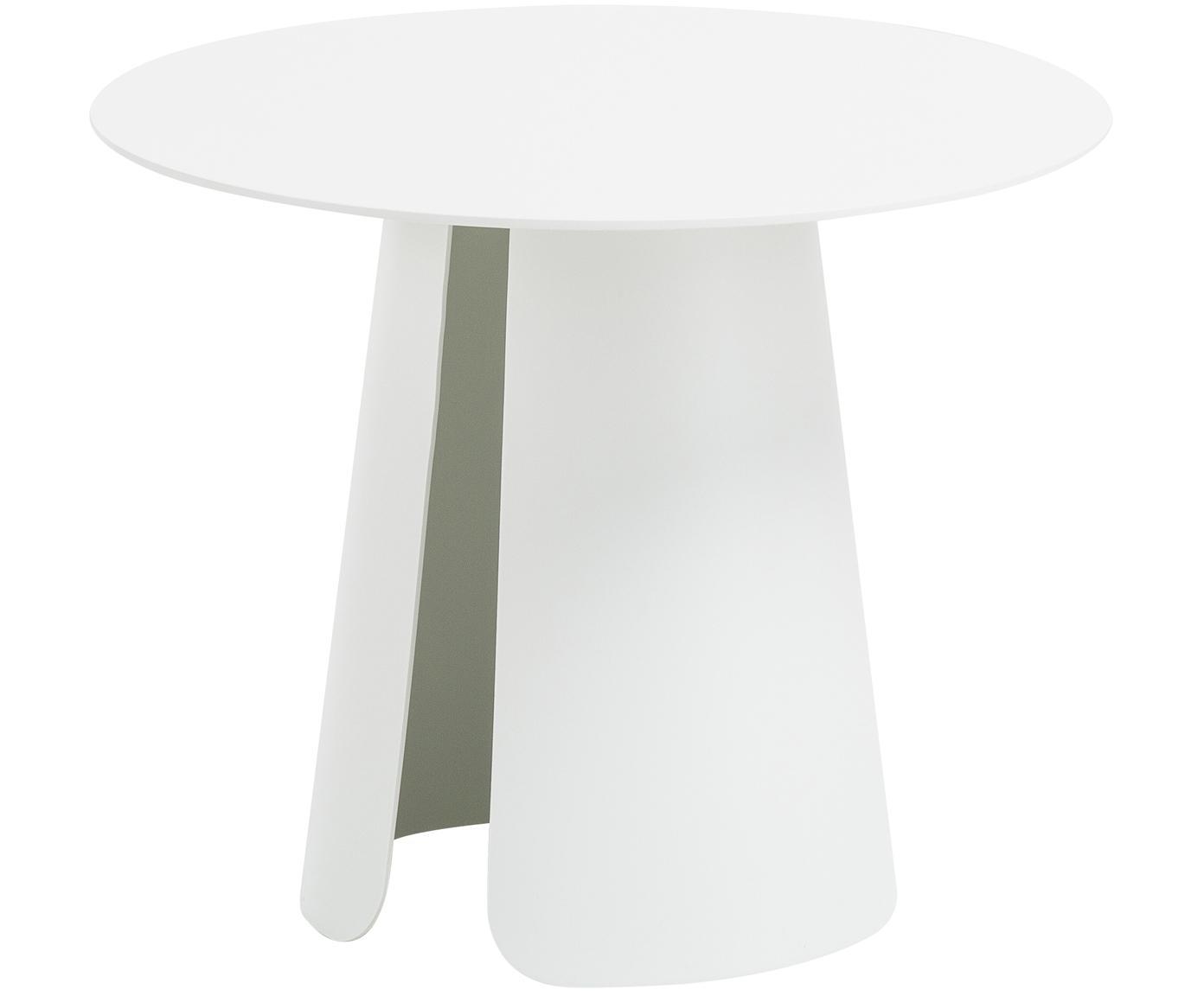 Tavolino rotondo in metallo Feel, Alluminio, verniciato a polvere, Bianco, Ø 40 x Alt. 32 cm