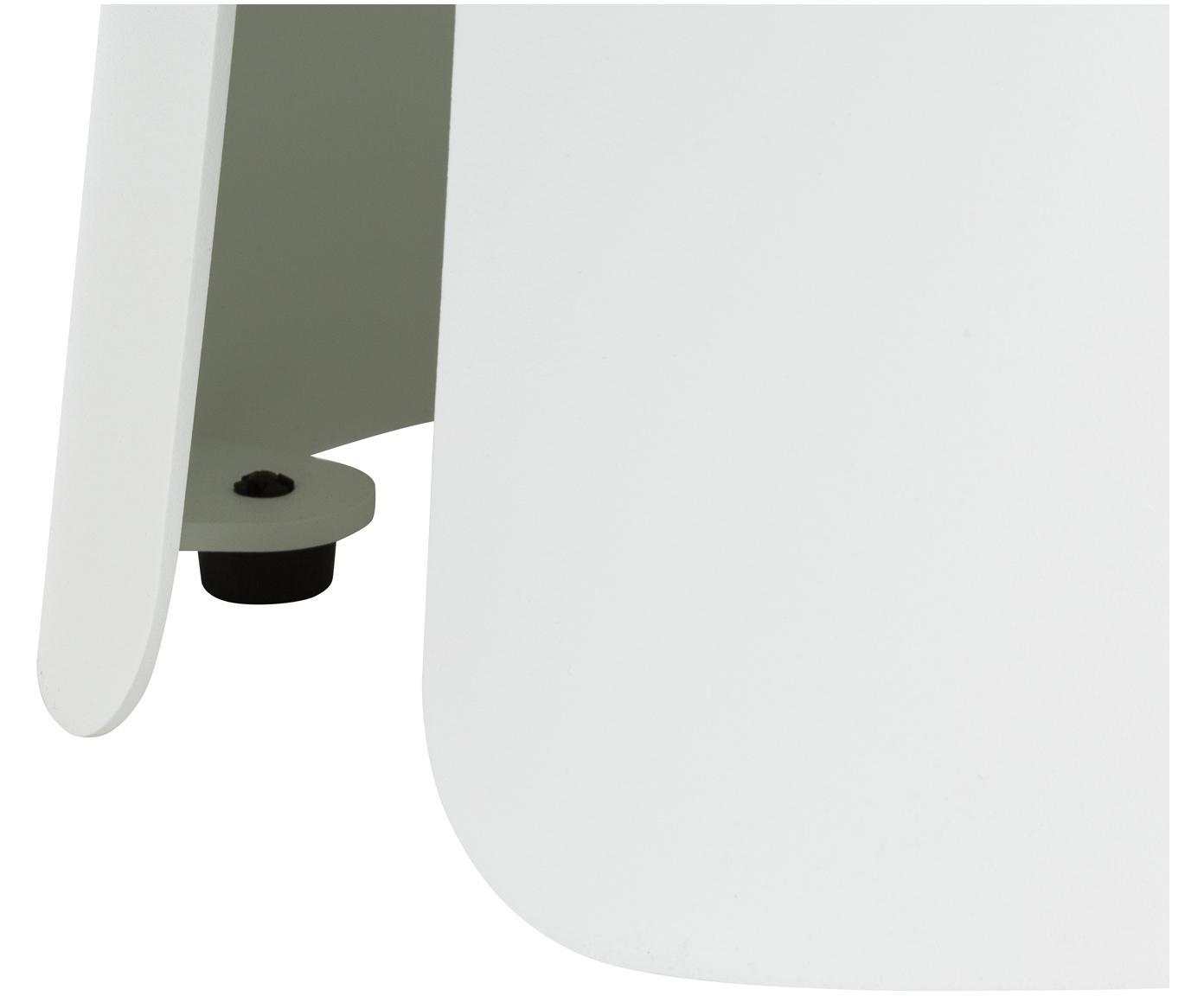 Metalen bijzettafel Feel in wit, Gepoedercoat aluminium, Wit, Ø 40 x H 32 cm