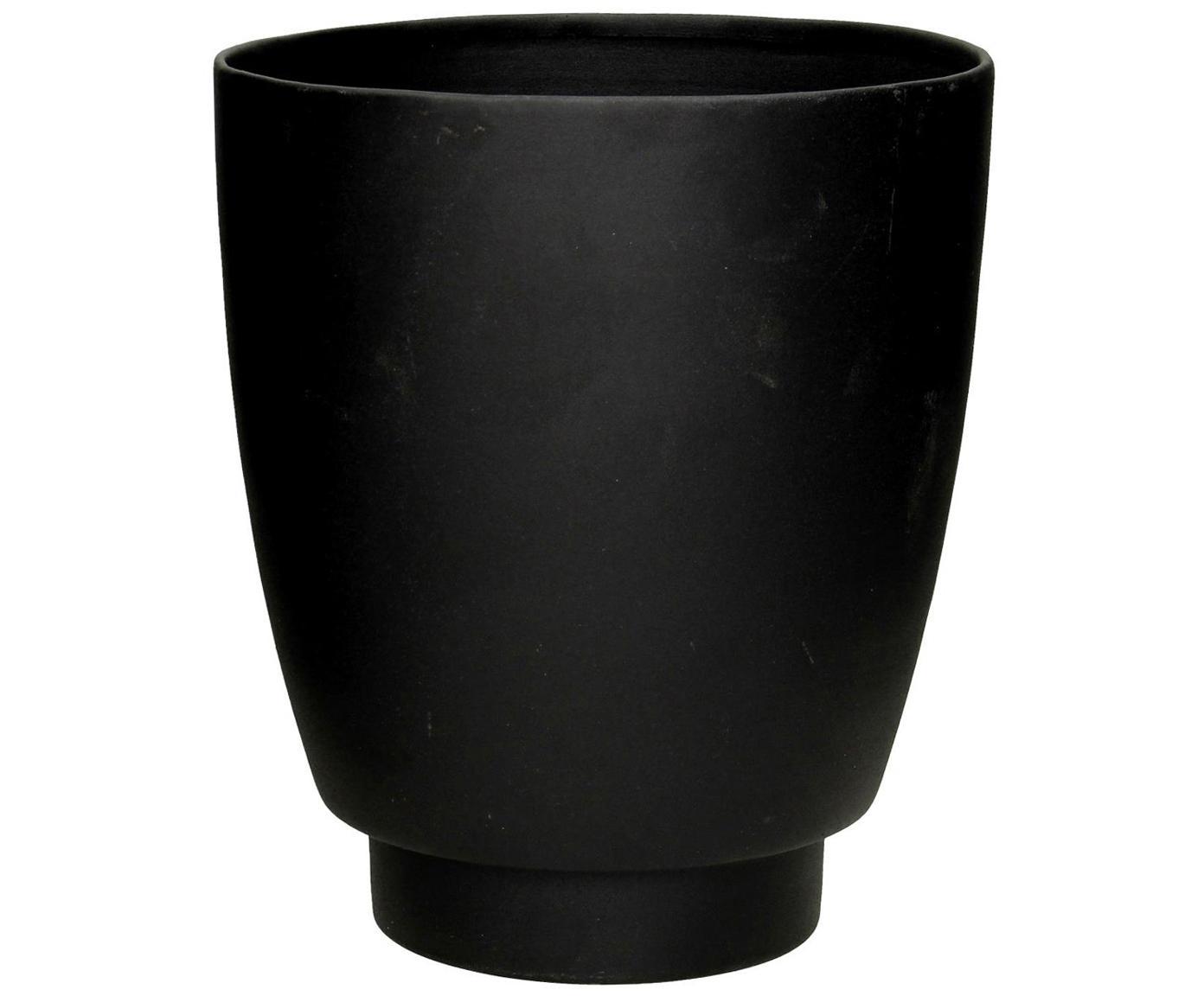 Komplet osłonek na doniczkę Timber, 2 elem., Metal powlekany, Czarny, Ø 21 x W 26 cm