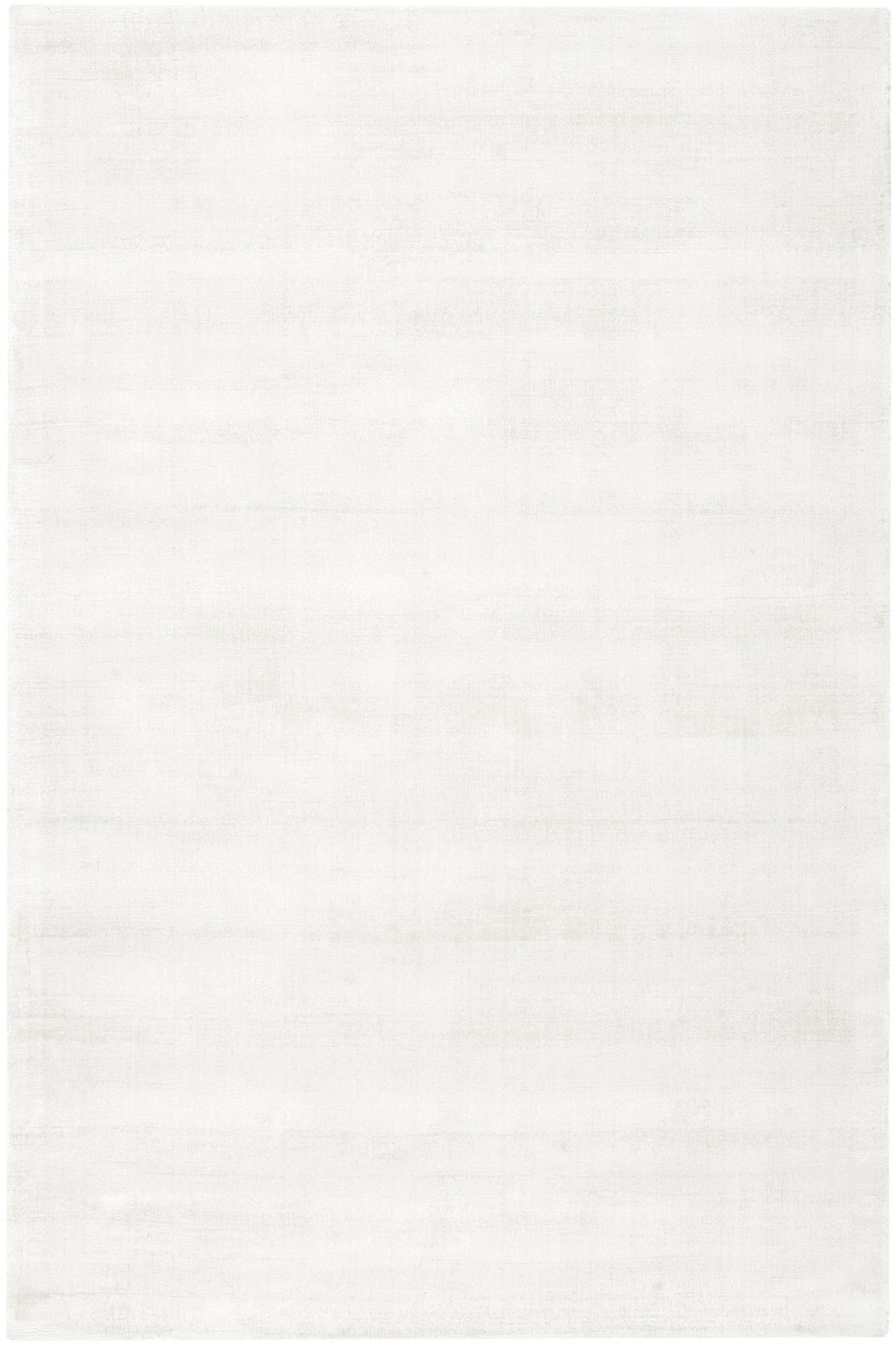 Alfombra artesanal de viscosa Jane, Parte superior: 100%viscosa, Reverso: 100%algodón, Marfil, An 120 x L 180 cm (Tamaño S)