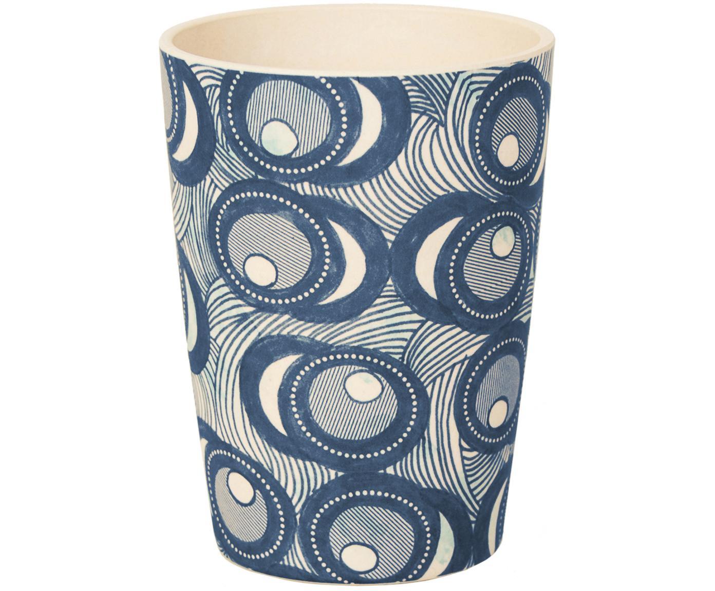 Taza de bambú Fish Eye, Fibras de bambú, pintado, Azul, blanco, Ø 8 x Al 11 cm