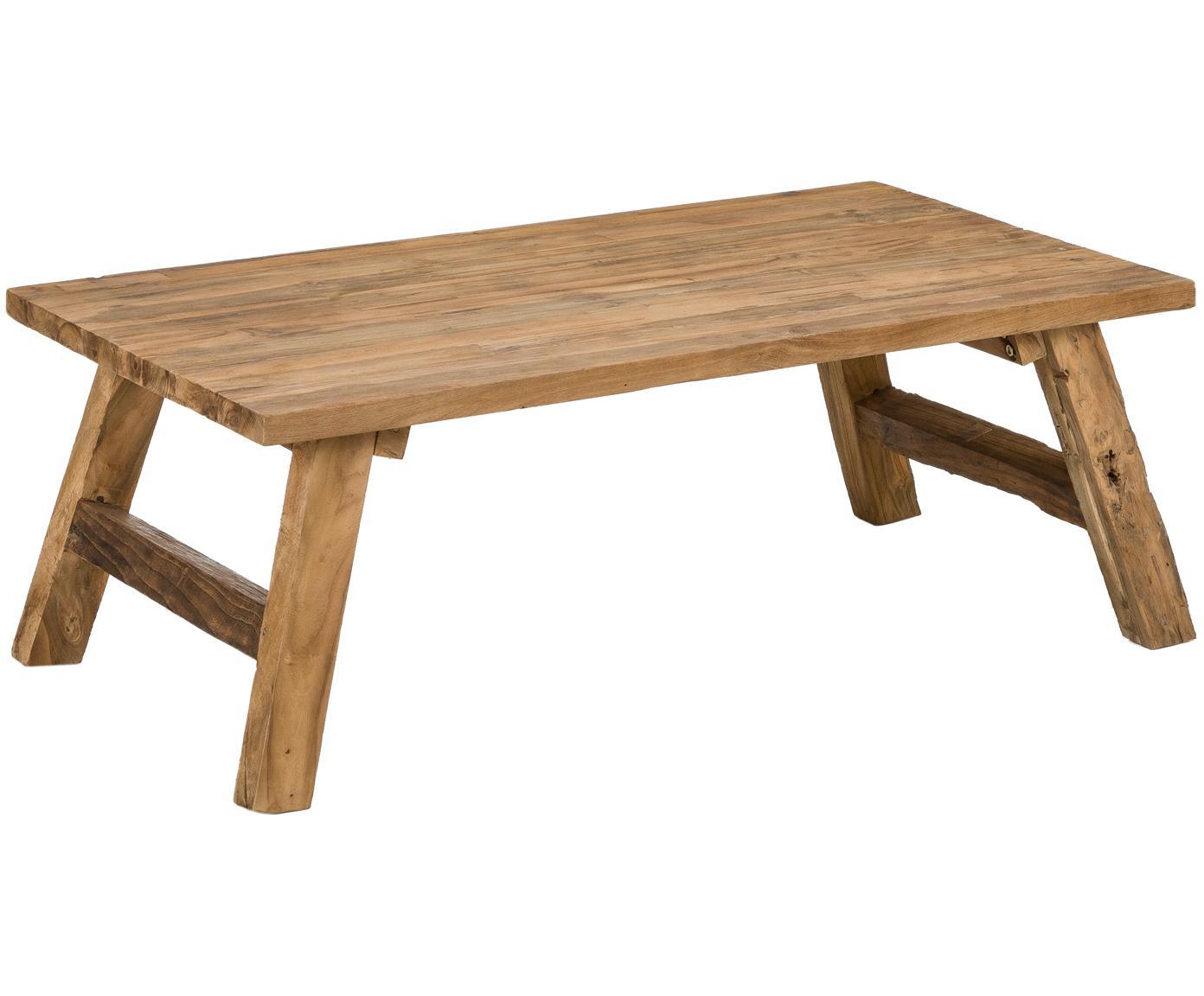 Stolik kawowy z drewna tekowego Lawas, Naturalne drewno tekowe, Drewno tekowe, S 120 x G 70 cm
