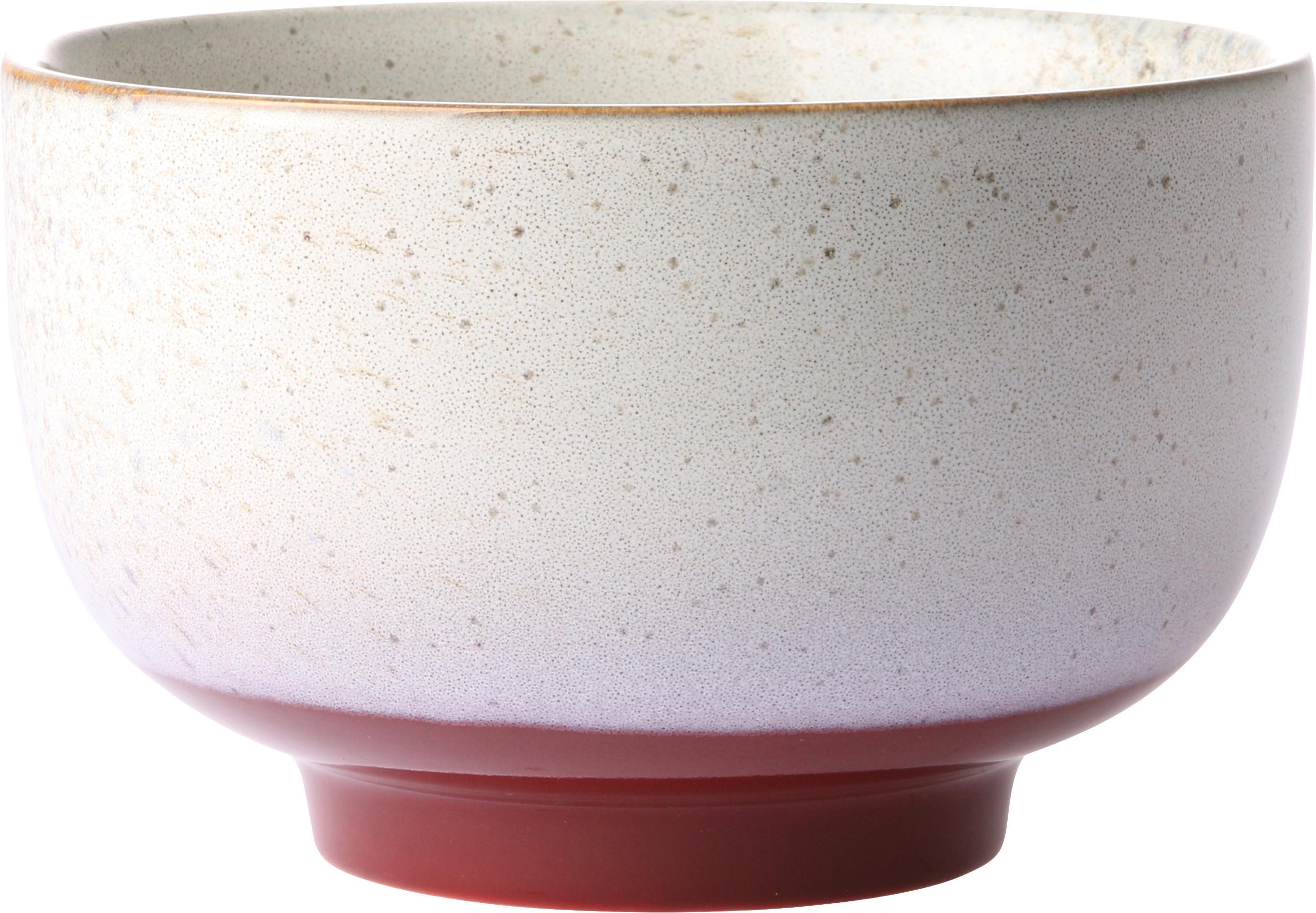 Set 4 ciotole artigianali 70's, Ceramica, Multicolore, Ø 14 x Alt. 8 cm