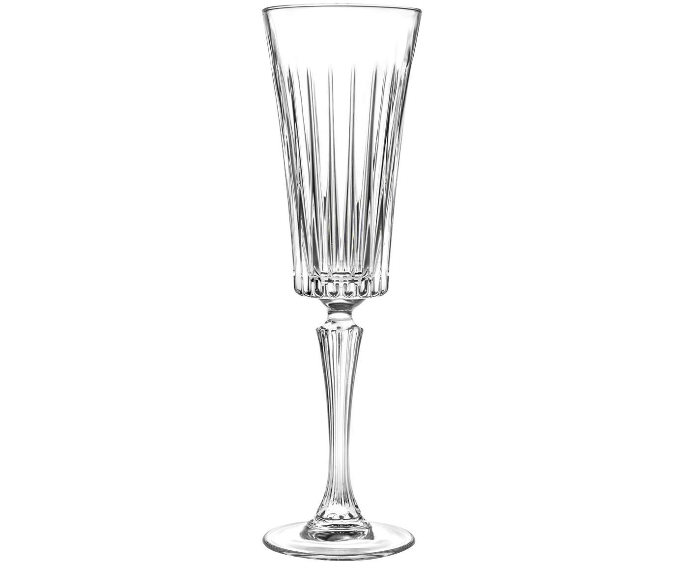 Copas flauta de champán de cristal Timeless, 6uds., Cristal, Transparente, Ø 8 x Al 24 cm