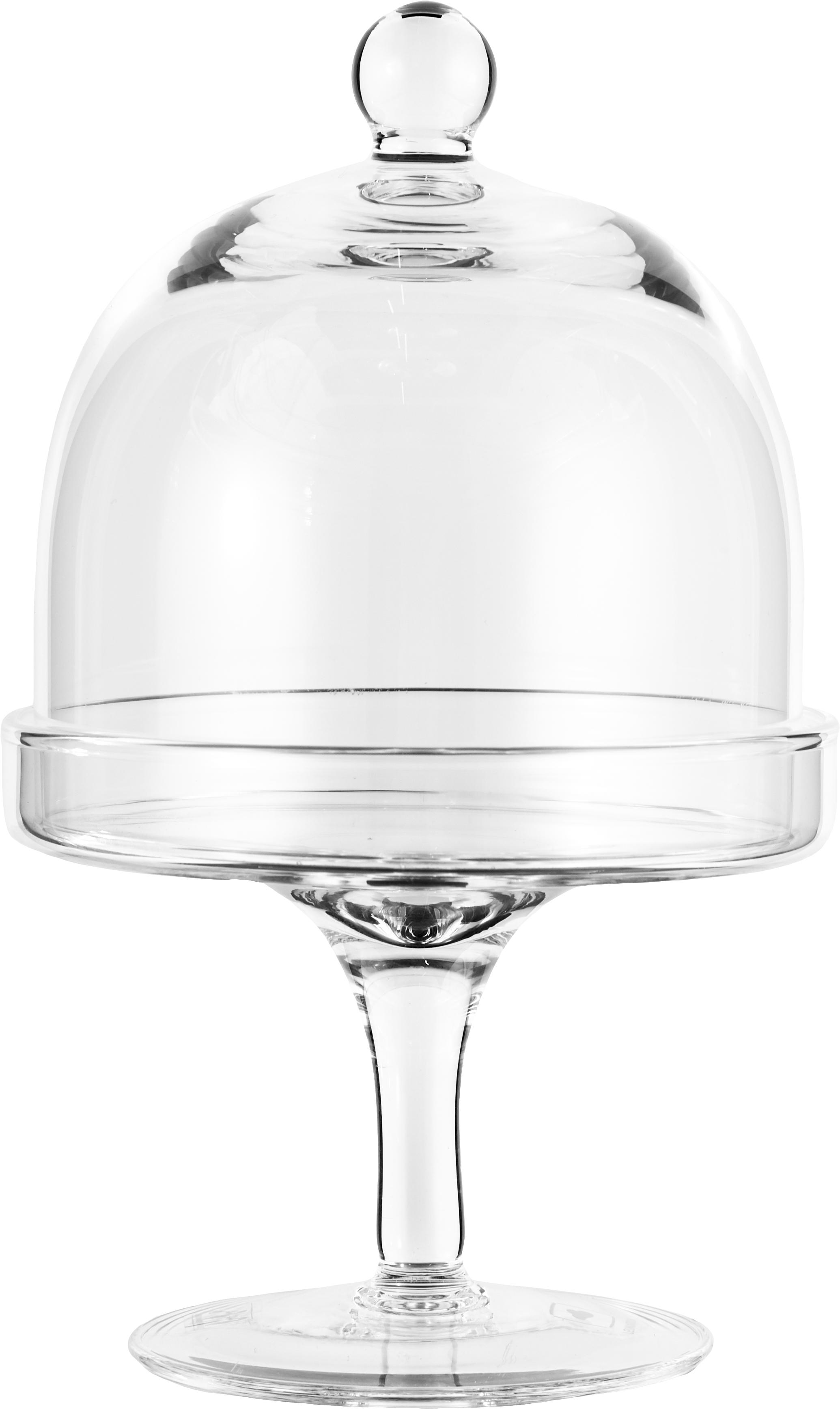 XS taartplateau Dolce, Glas, Transparant, H 20 cm