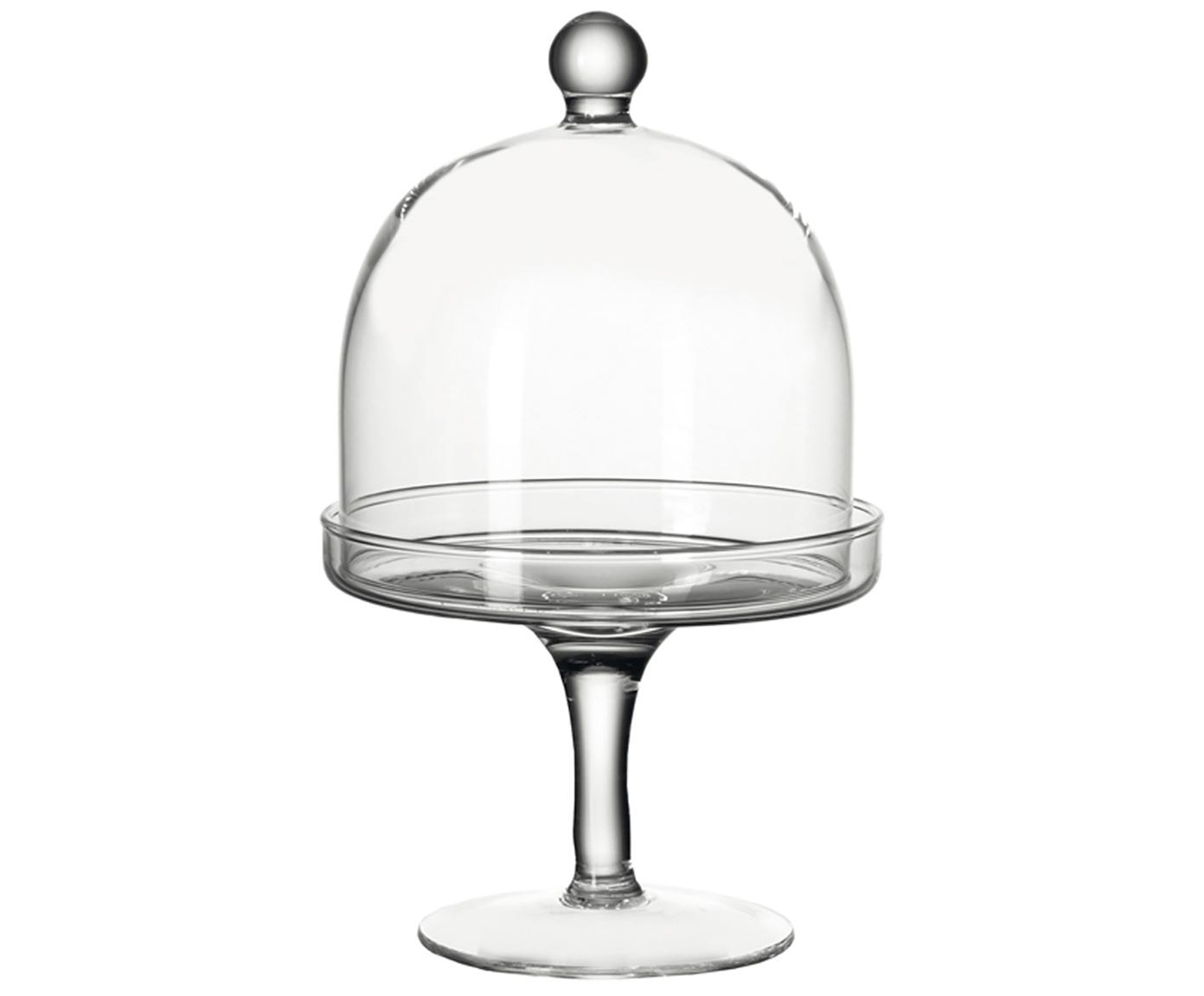 XS taartplateau Dolce, Glas, Transparant, H 20 cm