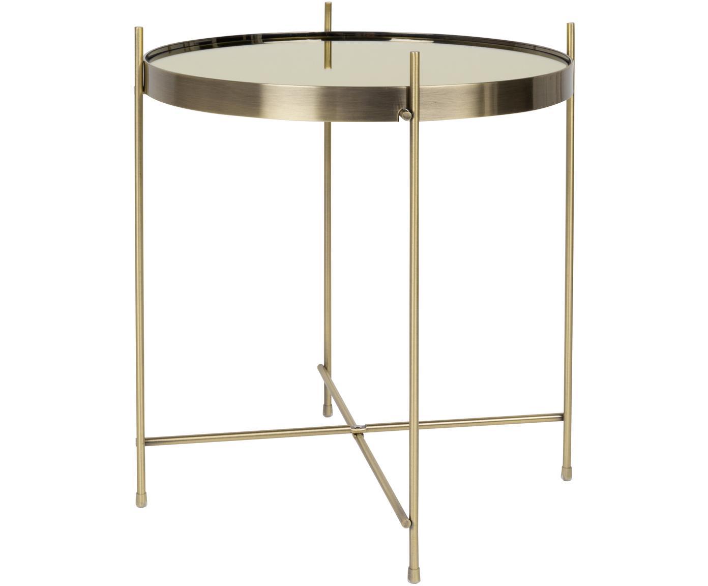 Stolik-taca Cupid, Stelaż: metal malowany proszkowo, Odcienie złotego, Ø 43 x W 45 cm