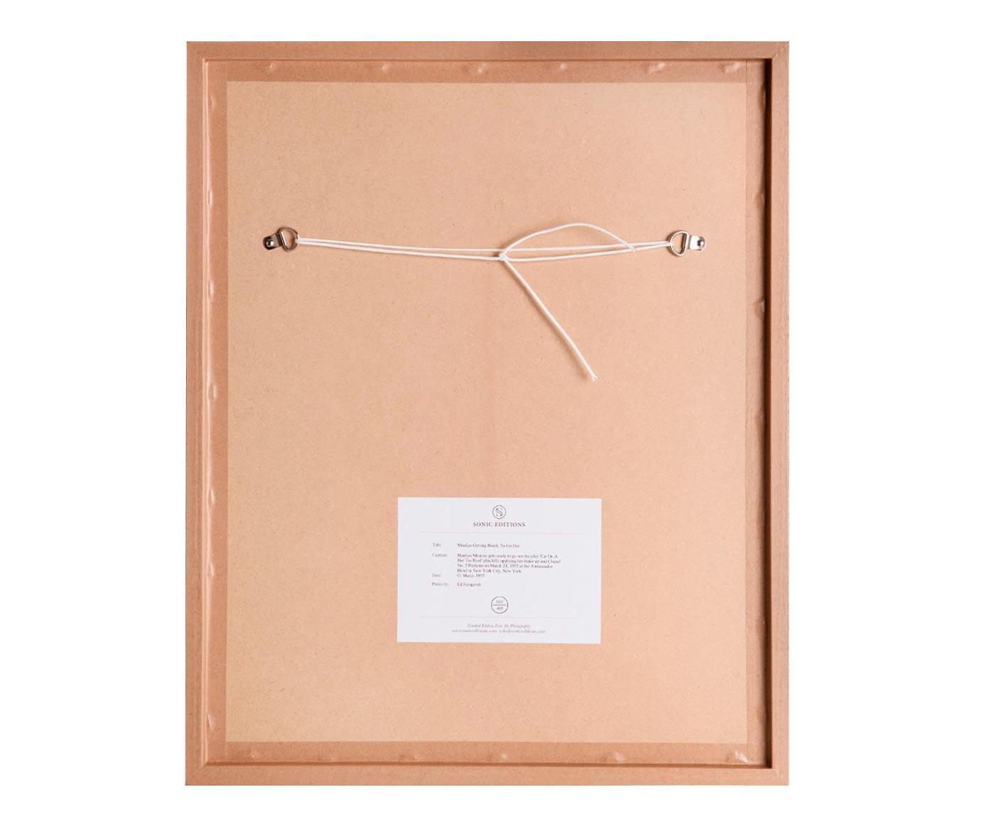 Gerahmter Fotodruck Connery, Bild: Fuji Crystal Archive Papi, Rahmen: Plexiglasscheibe, Holz, l, Schwarz,Weiß, 40 x 50 cm
