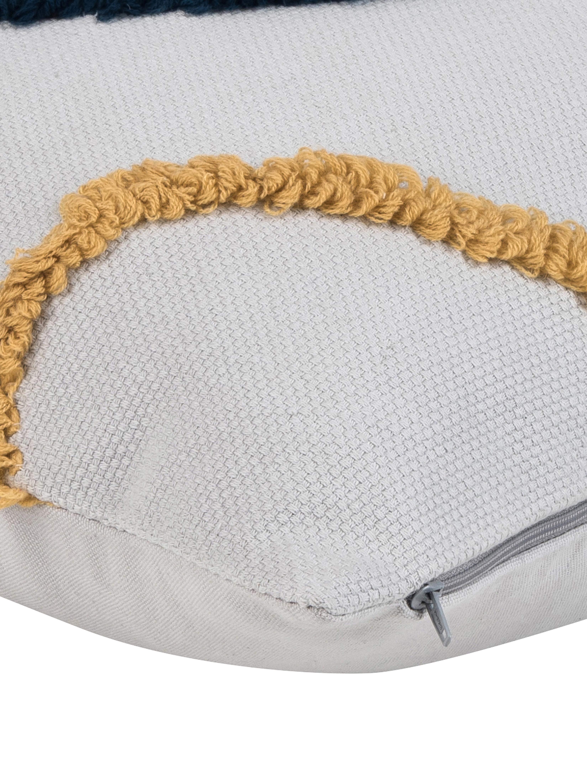 Housse de coussin 45x45 design Pablo, 2pièces, Endroit: multicolore Envers: blanc