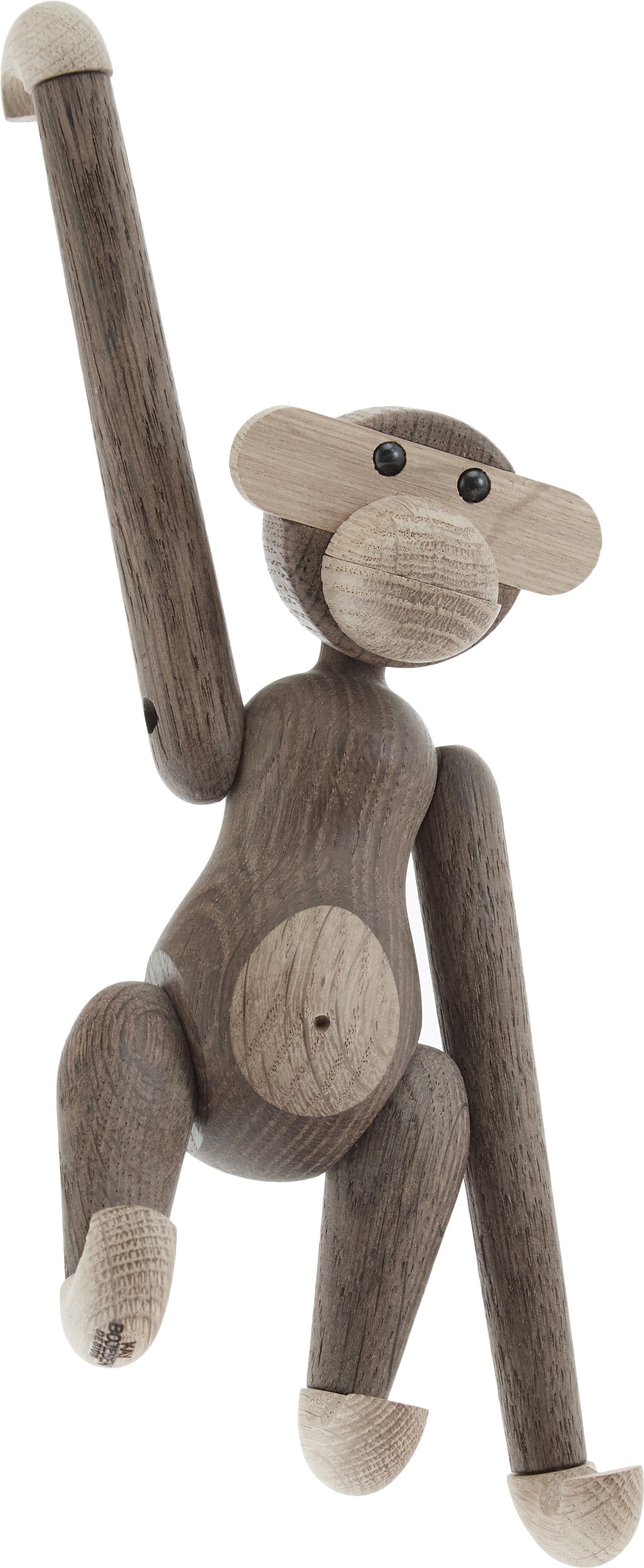 Oggetto decorativo di design Monkey, legno di quercia, Legno di quercia verniciato, Legno di quercia, Larg. 20 x Alt. 19 cm